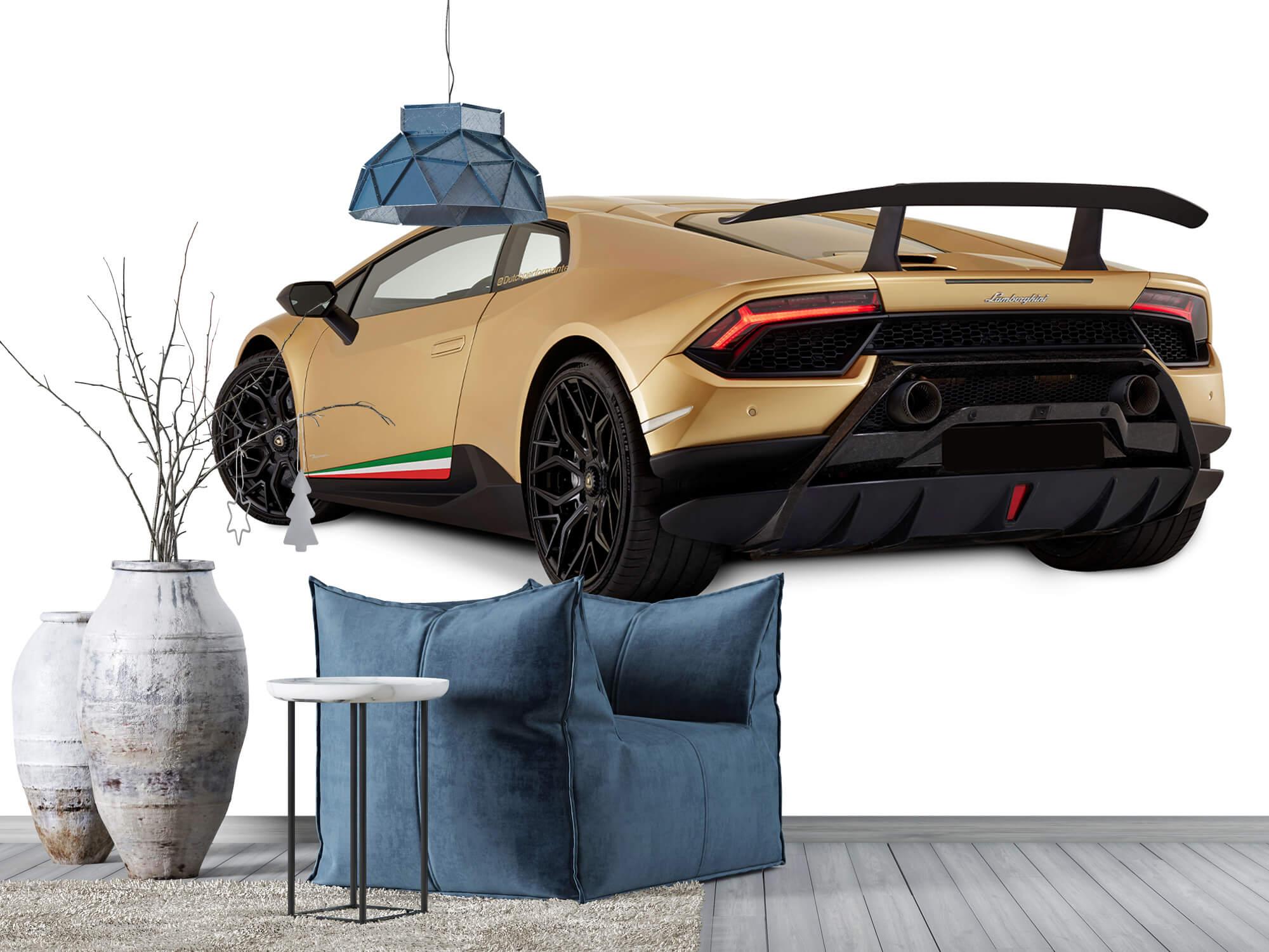 Wallpaper Lamborghini Huracán - Vänster bak, vit 5
