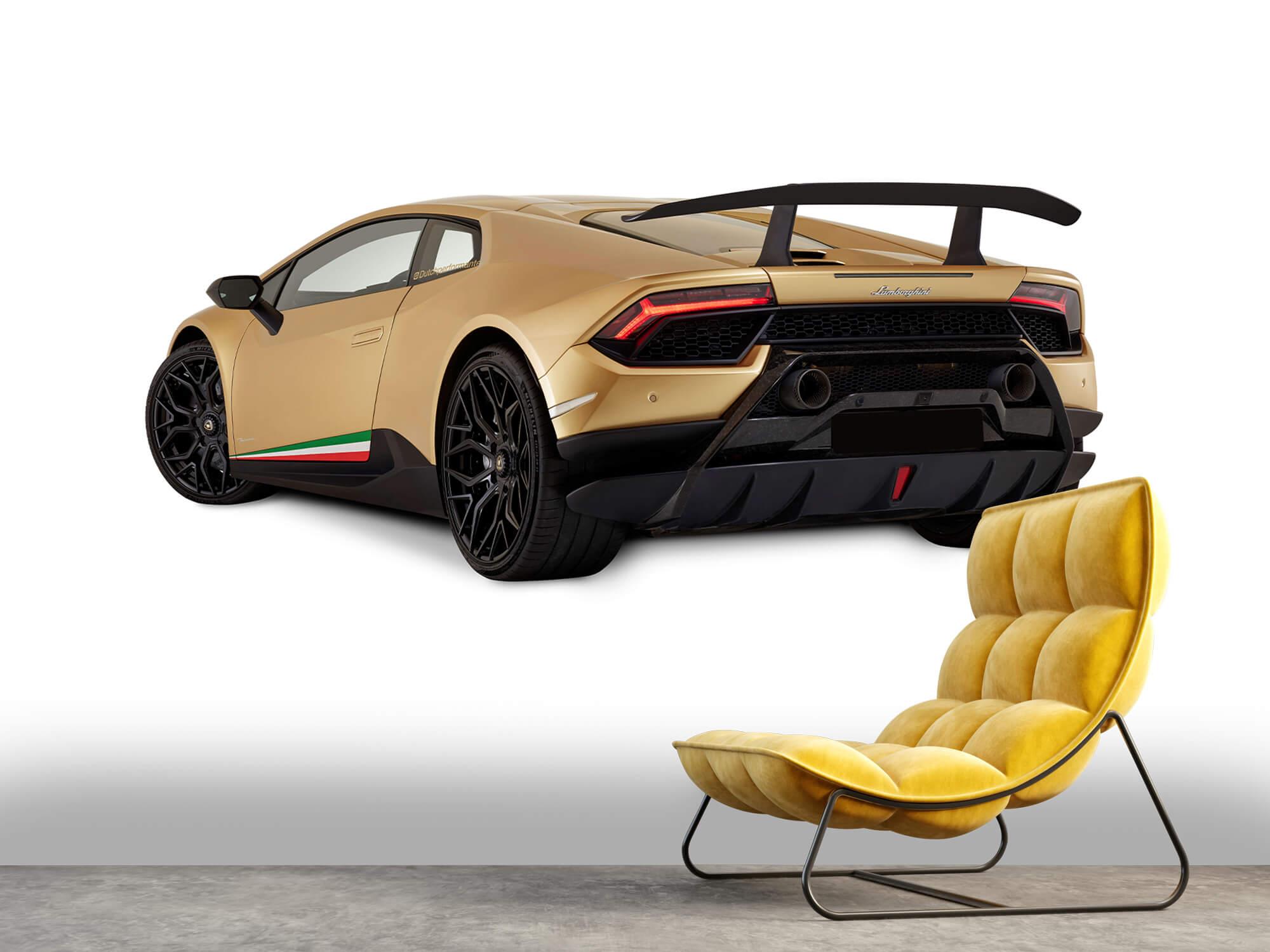 Wallpaper Lamborghini Huracán - Vänster bak, vit 11