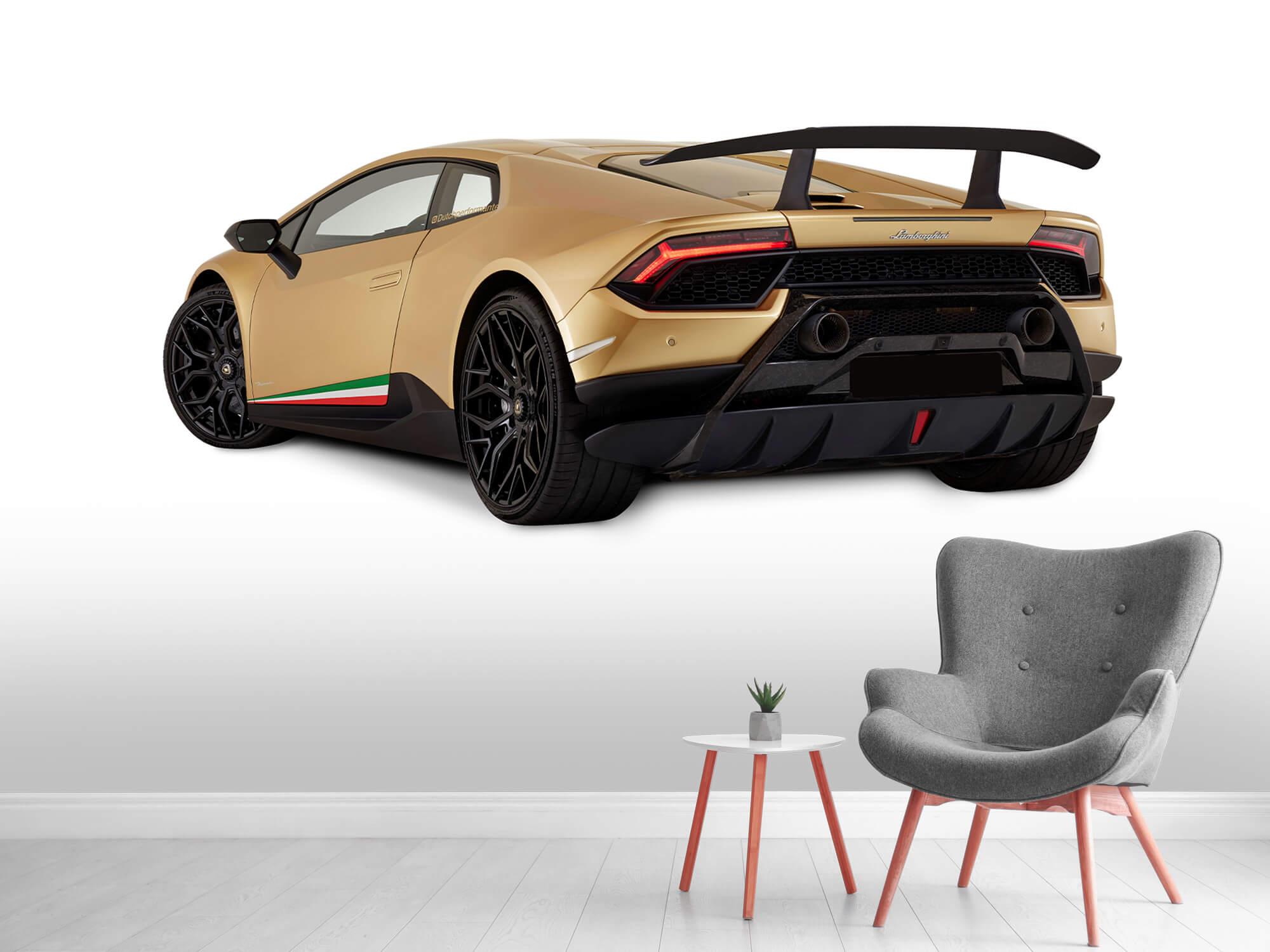 Wallpaper Lamborghini Huracán - Vänster bak, vit 4