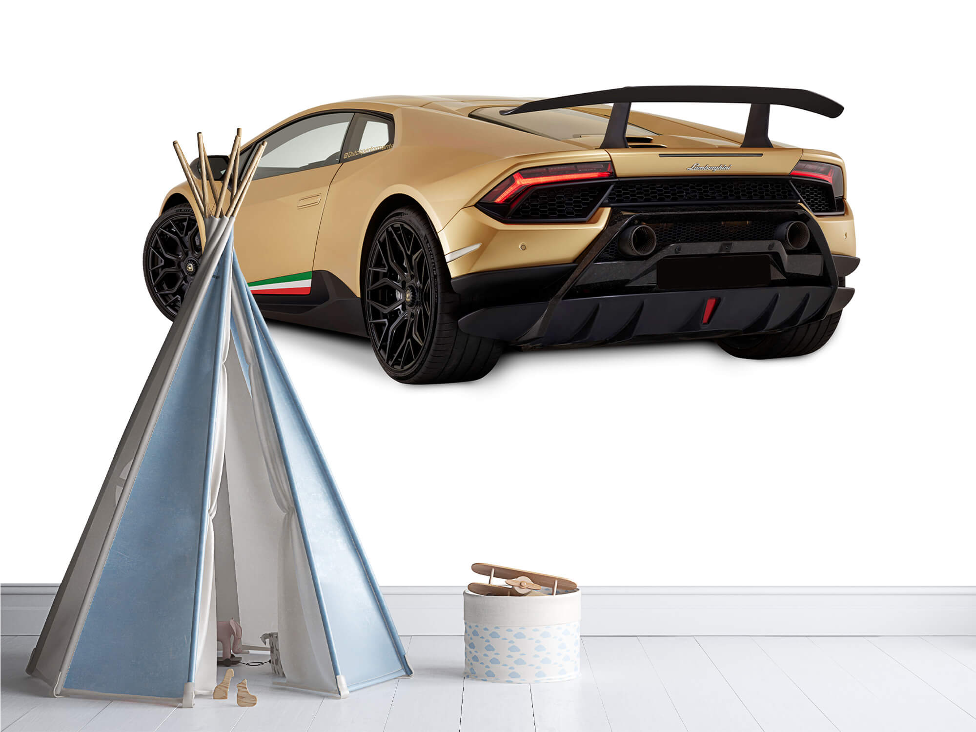 Wallpaper Lamborghini Huracán - Vänster bak, vit 12