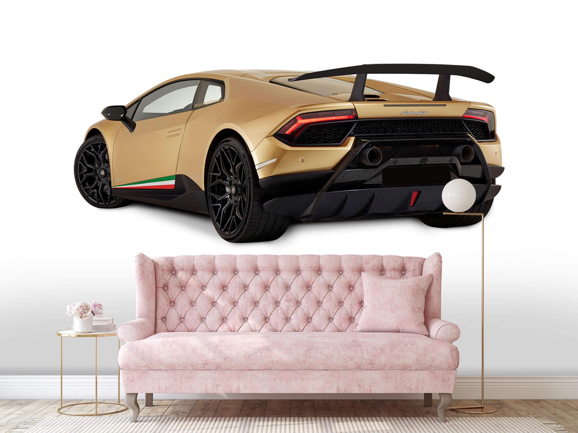 Wallpaper Lamborghini Huracán - Vänster bak, vit 13