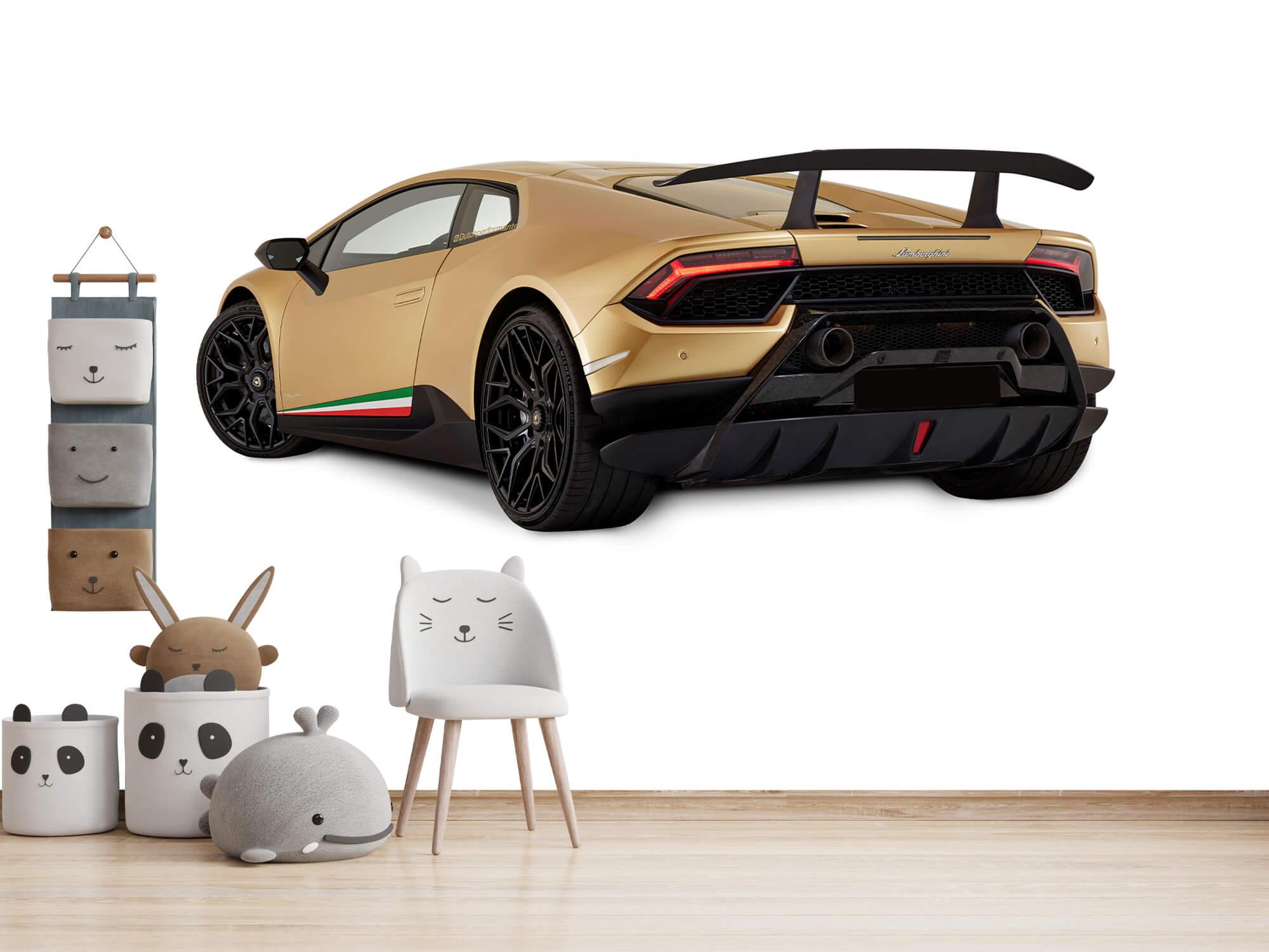 Wallpaper Lamborghini Huracán - Vänster bak, vit 14