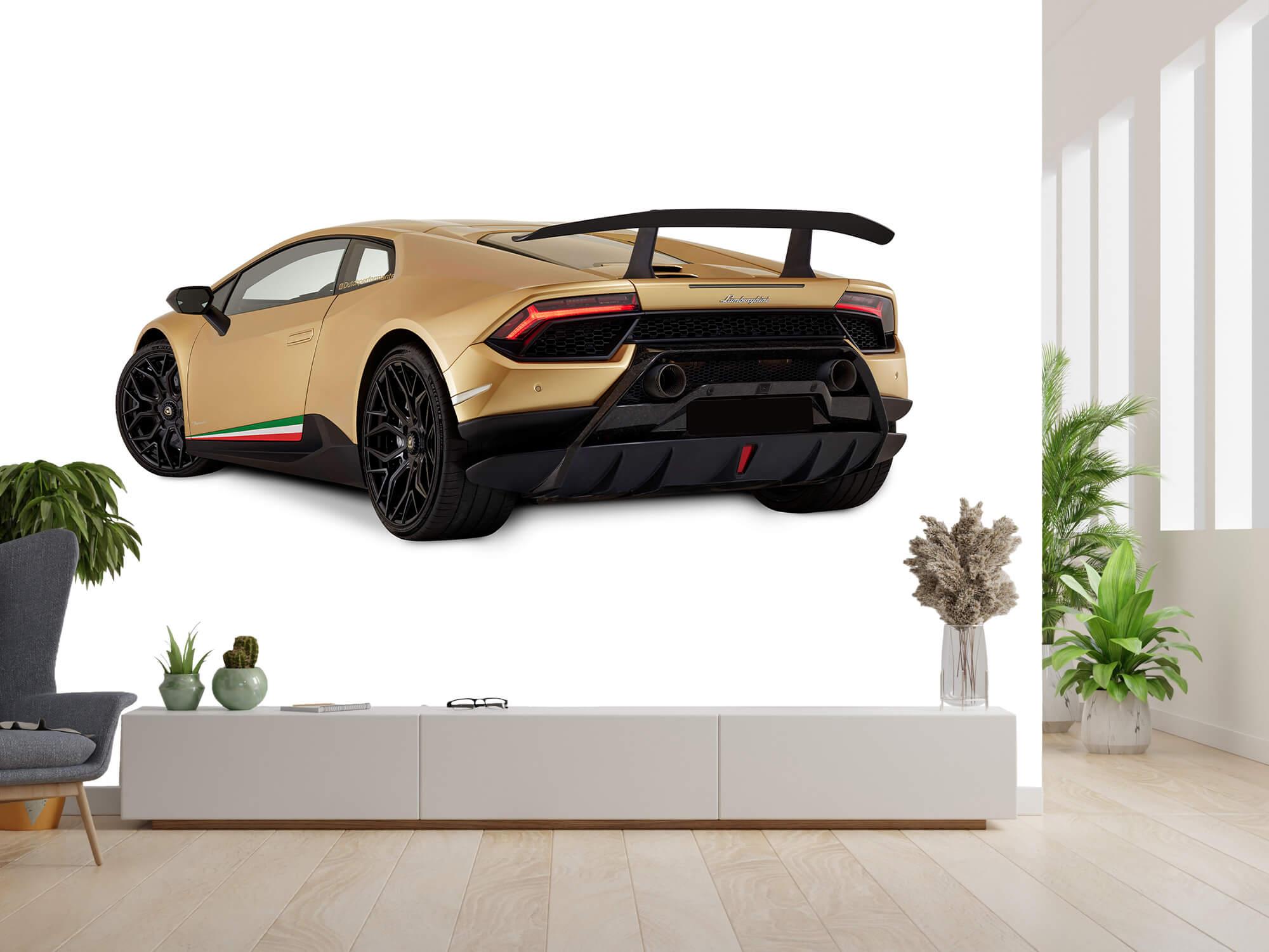 Wallpaper Lamborghini Huracán - Vänster bak, vit 3