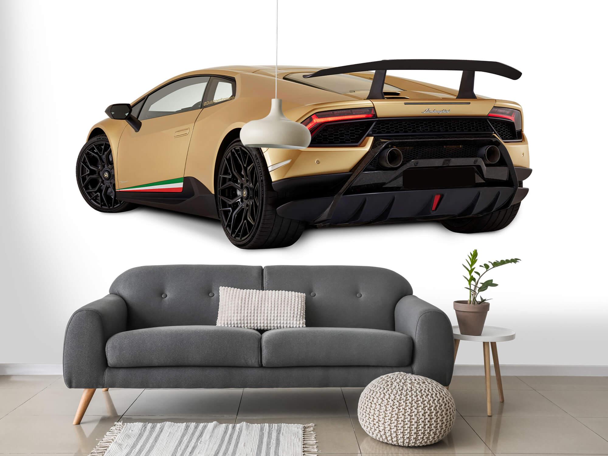 Wallpaper Lamborghini Huracán - Vänster bak, vit 15