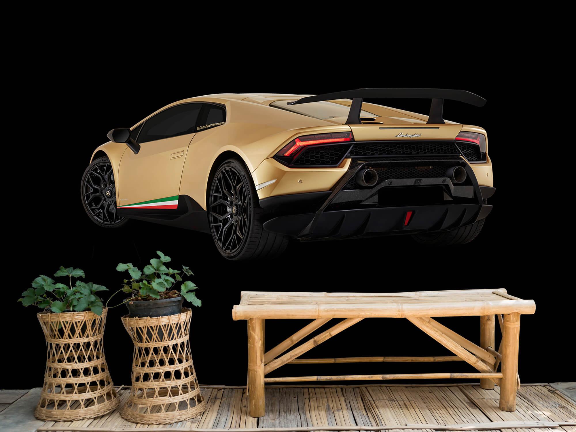 Wallpaper Lamborghini Huracán - Vänster bak, svart 6