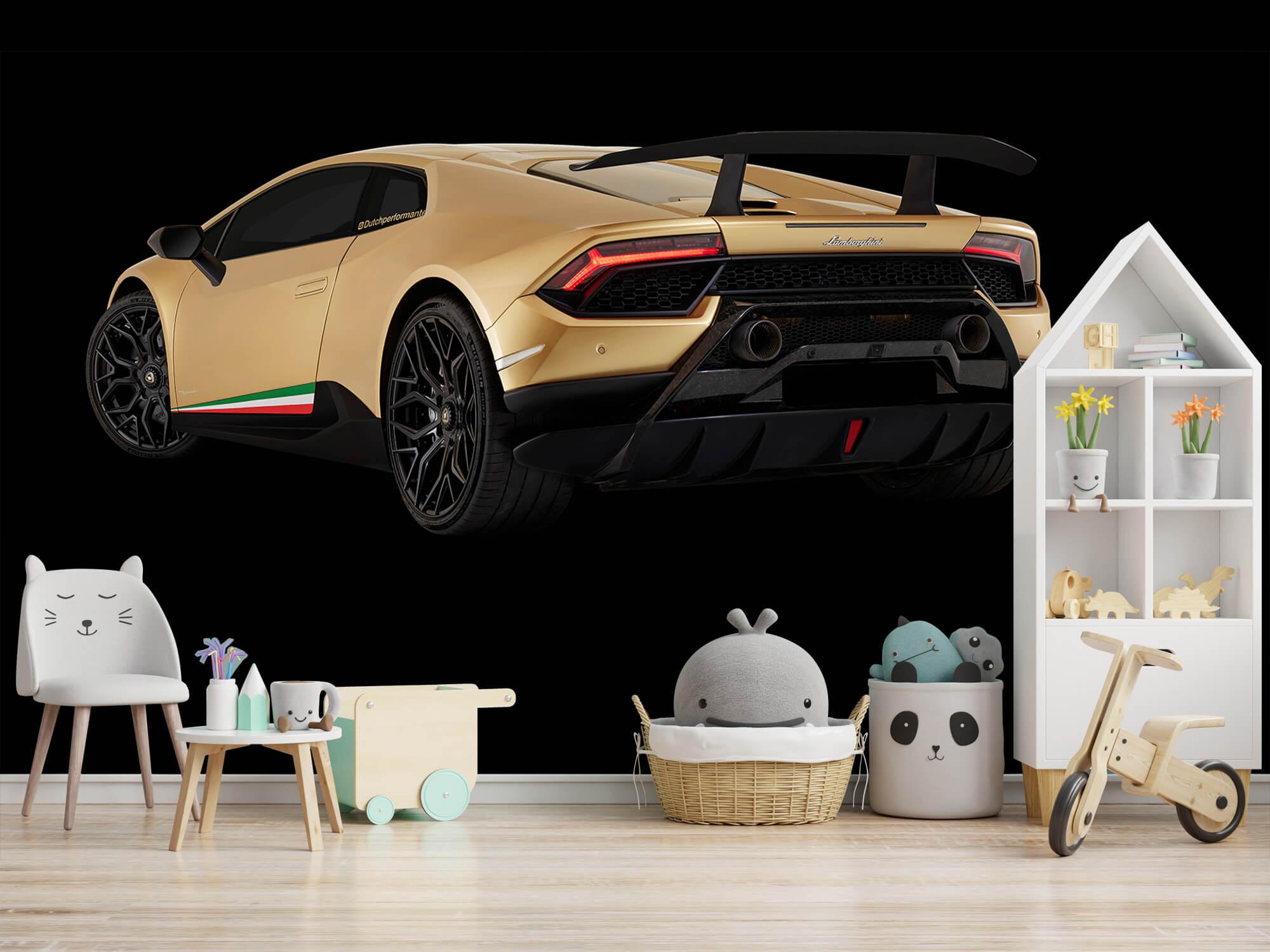 Wallpaper Lamborghini Huracán - Vänster bak, svart 7