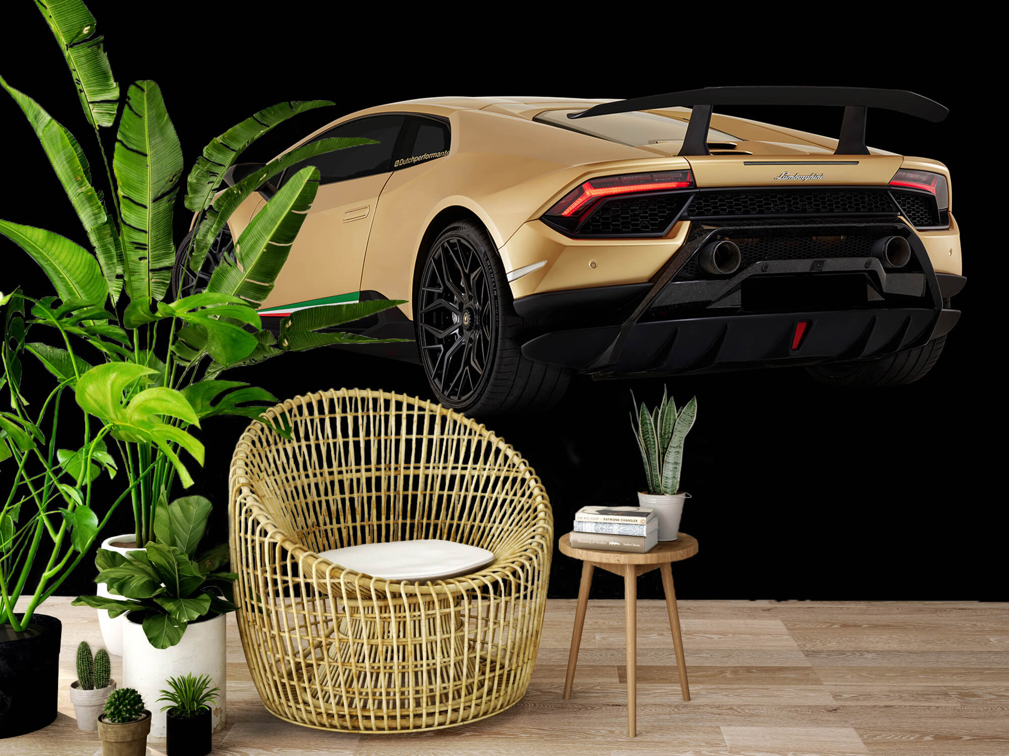 Wallpaper Lamborghini Huracán - Vänster bak, svart 8