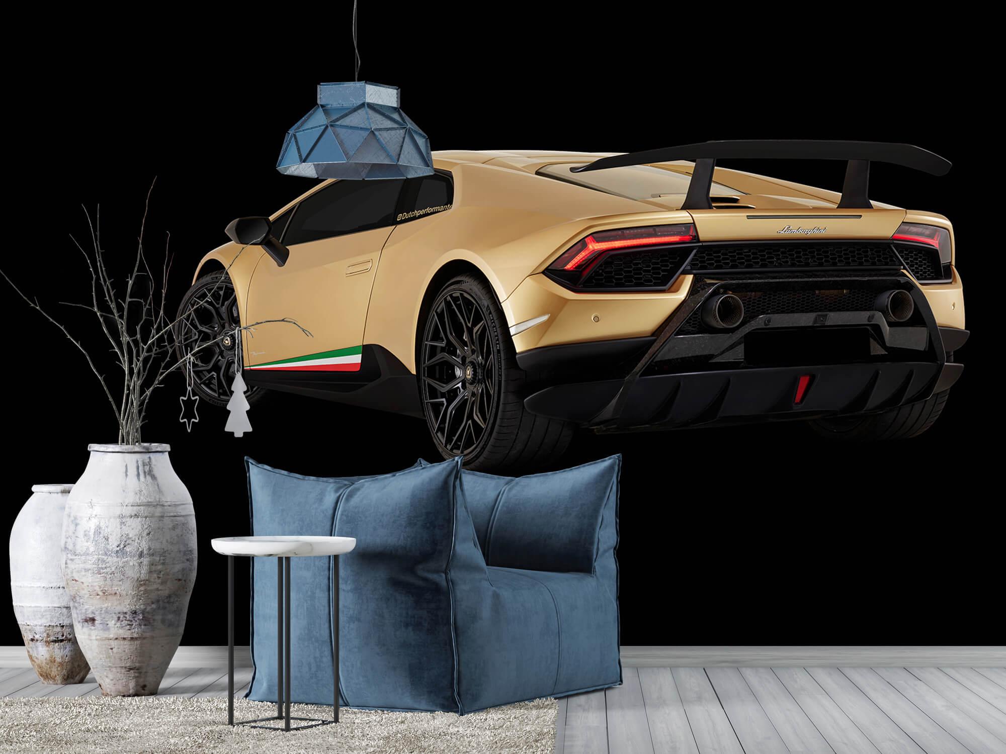 Wallpaper Lamborghini Huracán - Vänster bak, svart 10