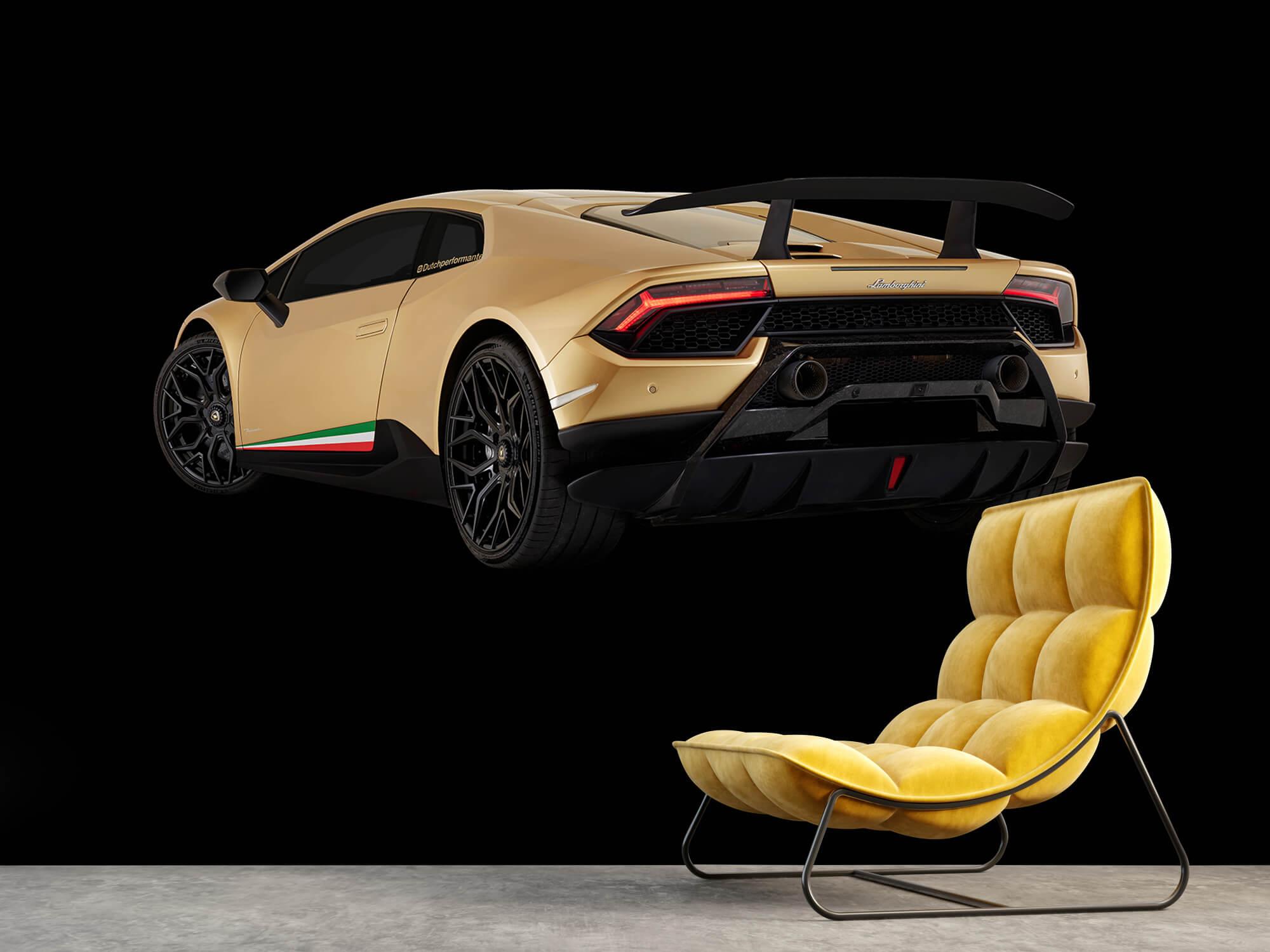Wallpaper Lamborghini Huracán - Vänster bak, svart 14
