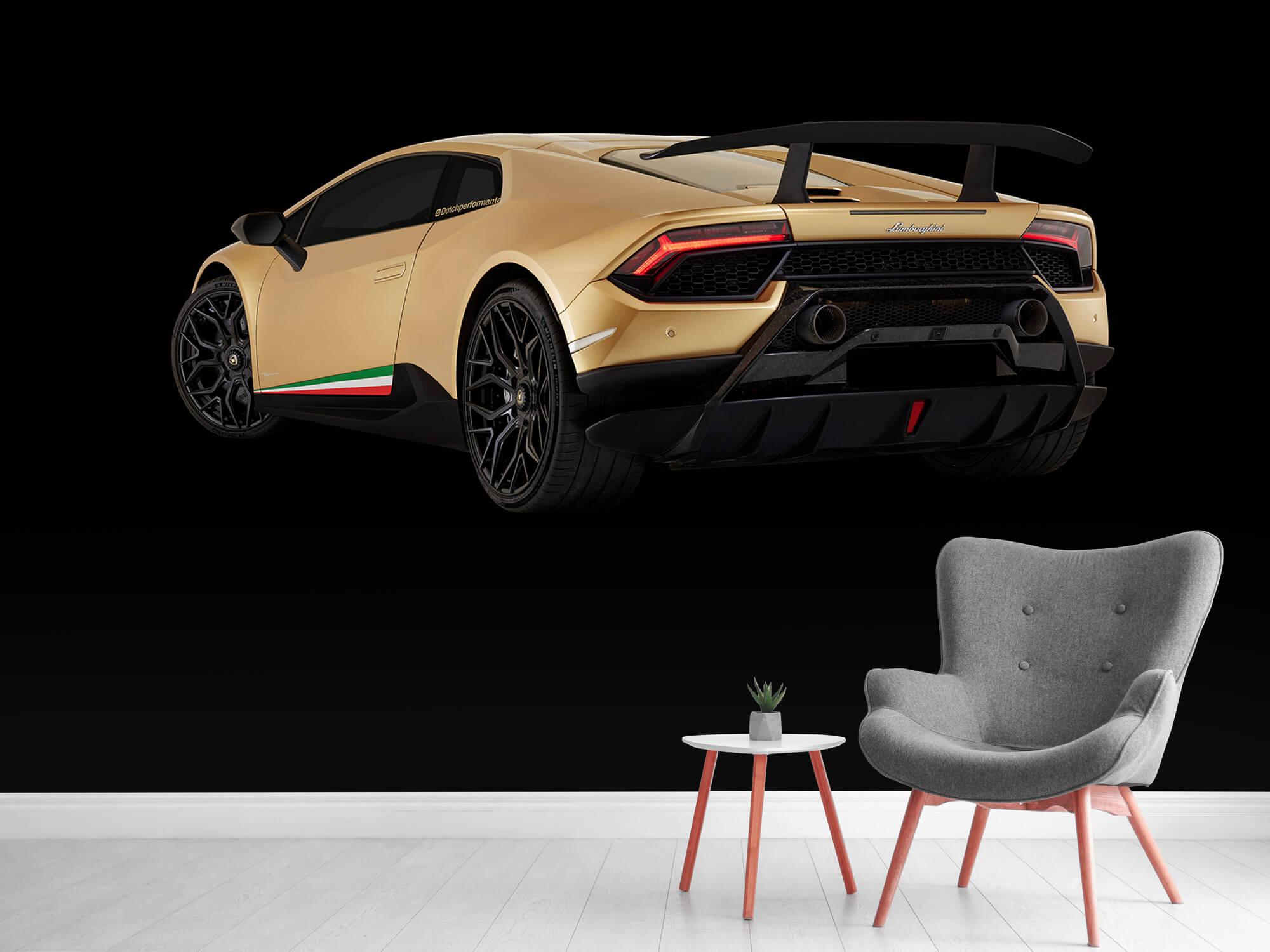 Wallpaper Lamborghini Huracán - Vänster bak, svart 12