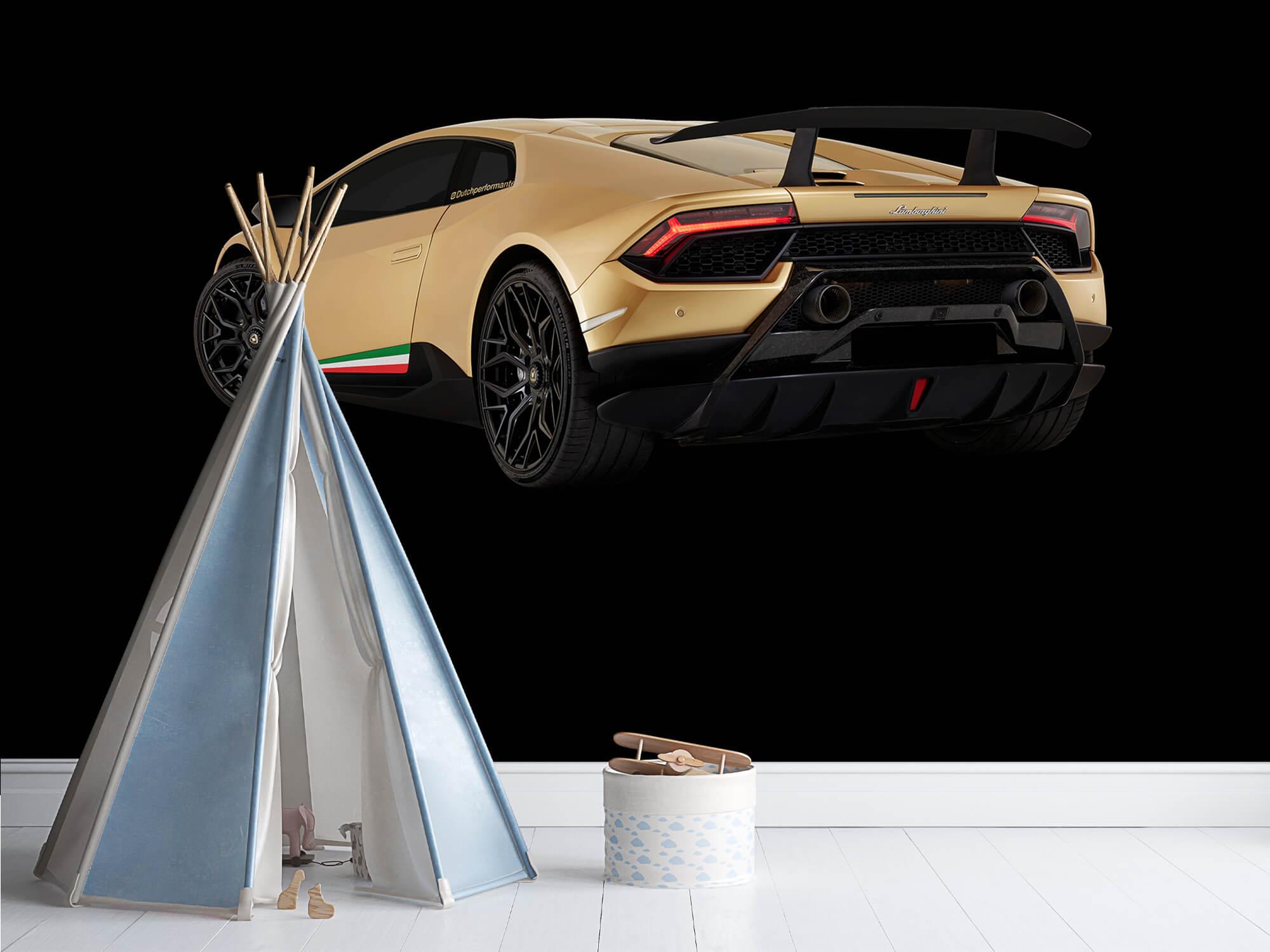 Wallpaper Lamborghini Huracán - Vänster bak, svart 4