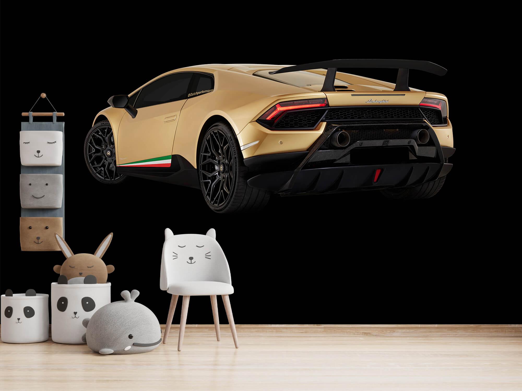 Wallpaper Lamborghini Huracán - Vänster bak, svart 11