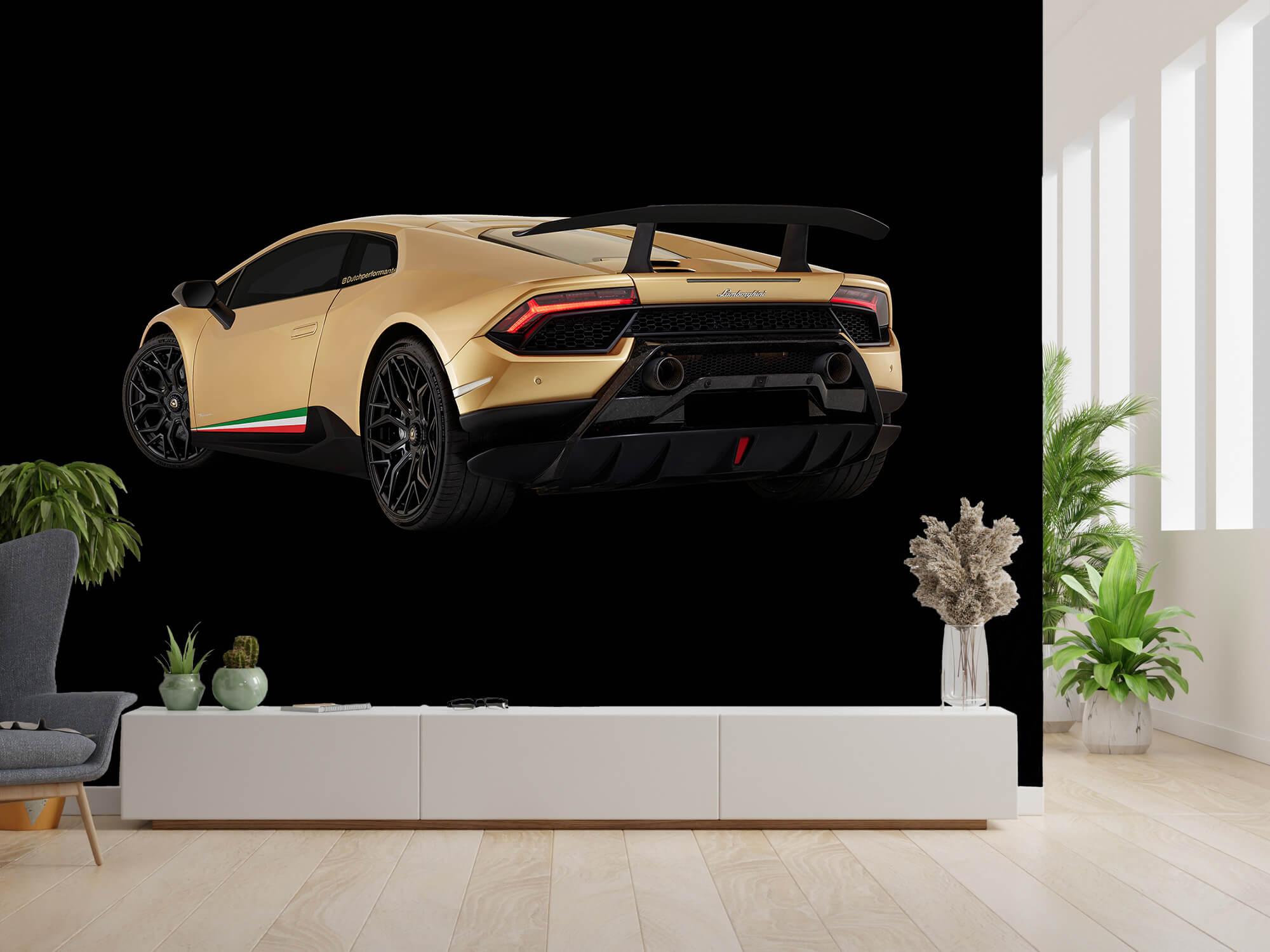 Wallpaper Lamborghini Huracán - Vänster bak, svart 9