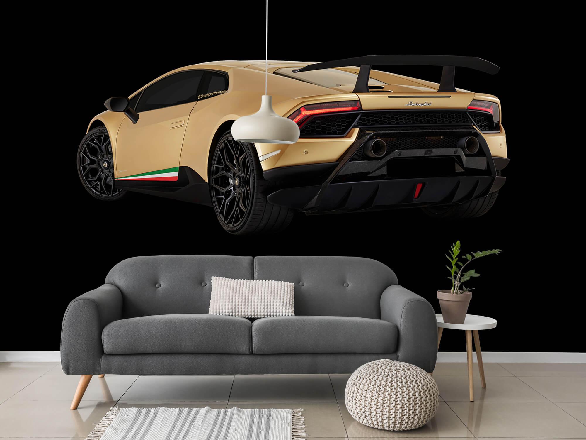 Wallpaper Lamborghini Huracán - Vänster bak, svart 3