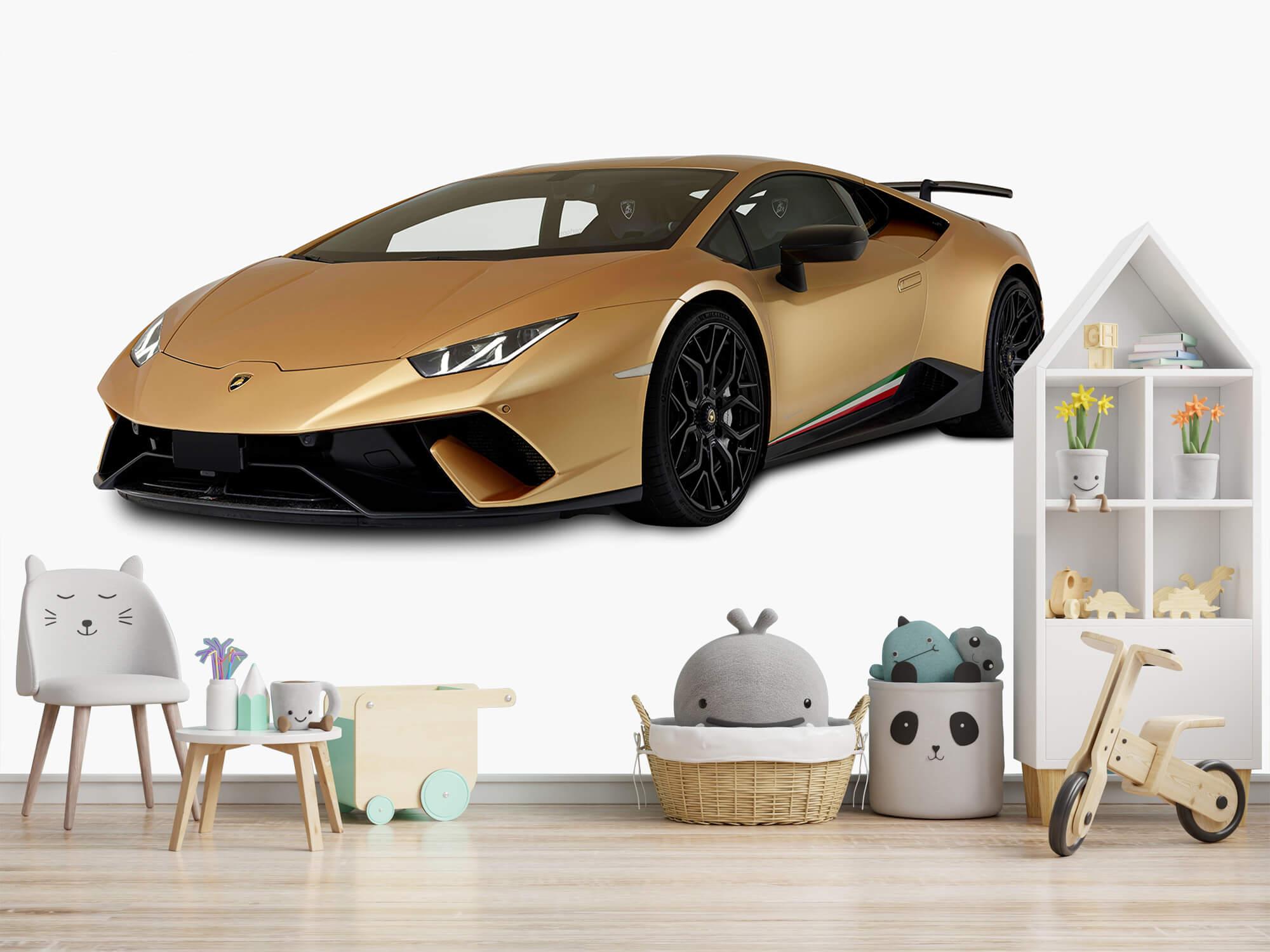 Wallpaper Lamborghini Huracán - Höger fram vit 3