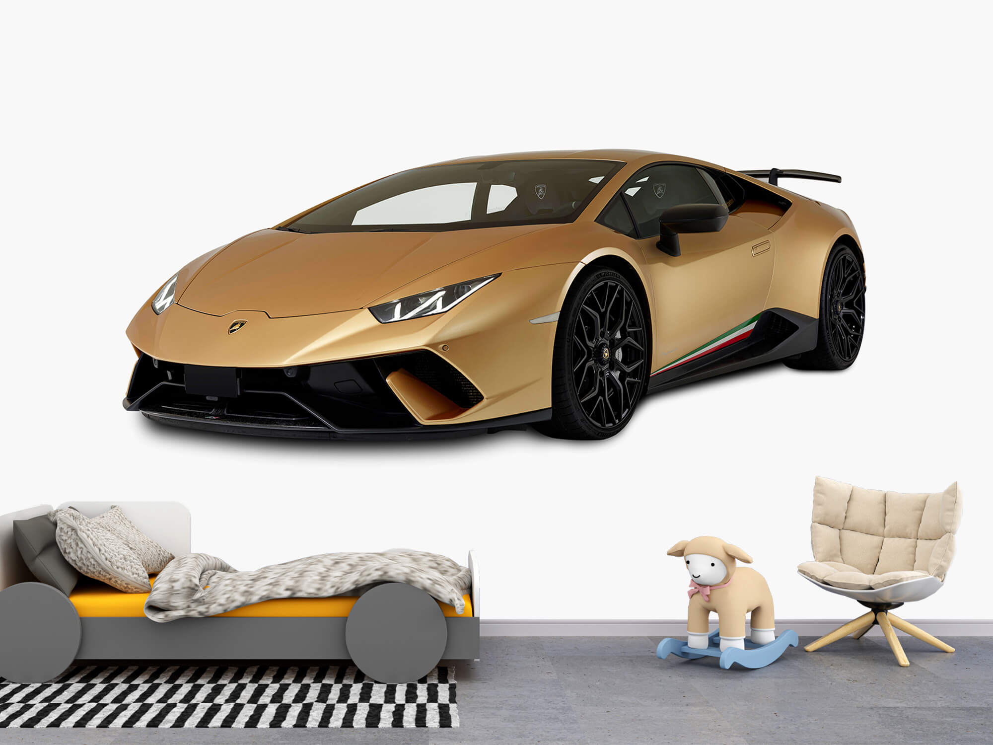 Wallpaper Lamborghini Huracán - Höger fram vit 5