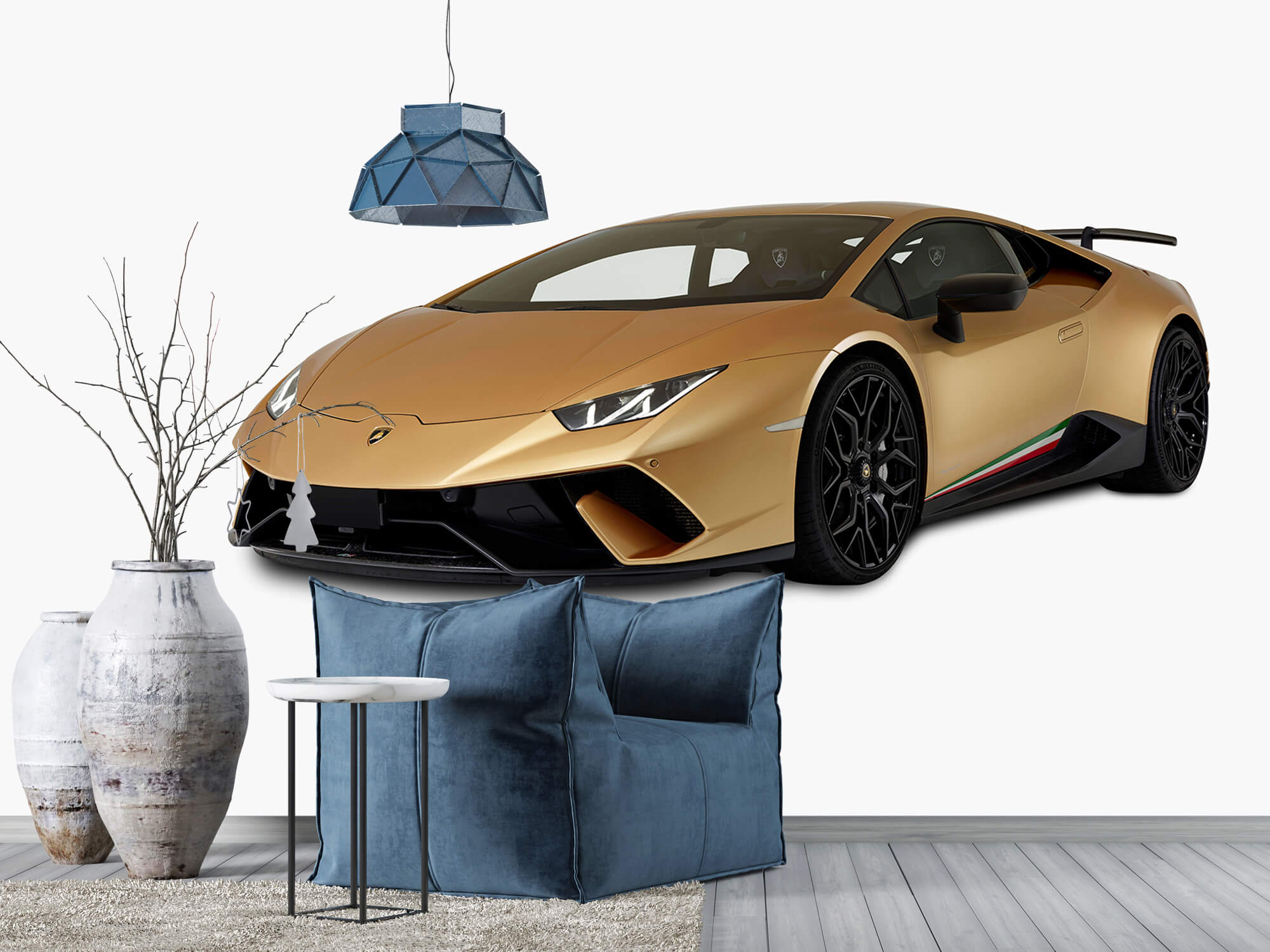 Wallpaper Lamborghini Huracán - Höger fram vit 6