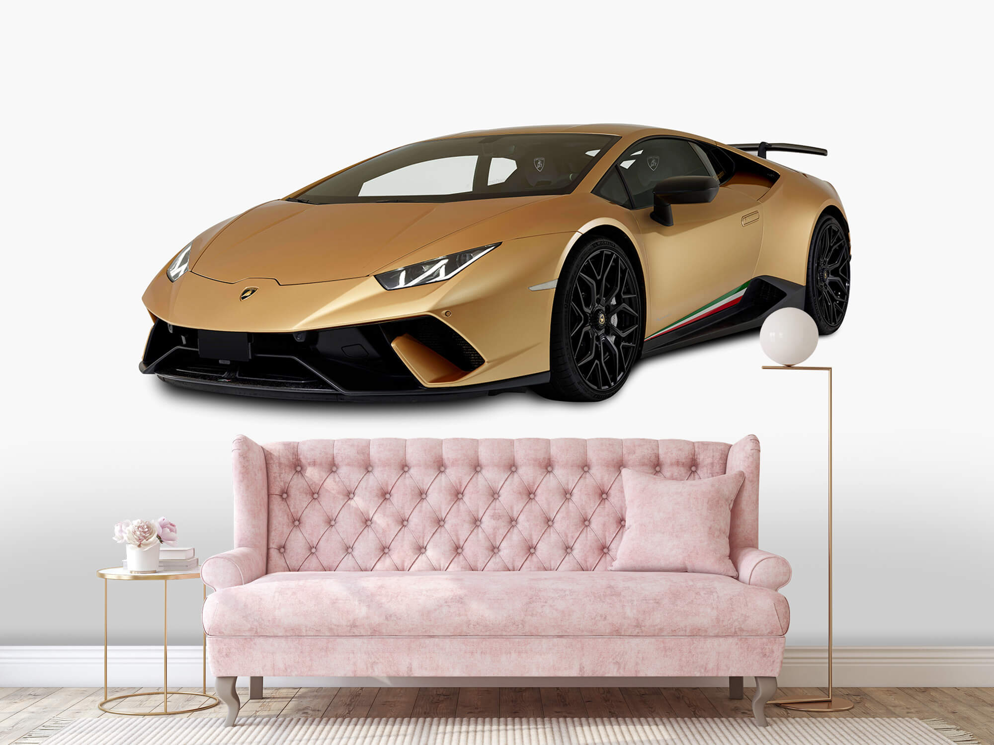 Wallpaper Lamborghini Huracán - Höger fram vit 12