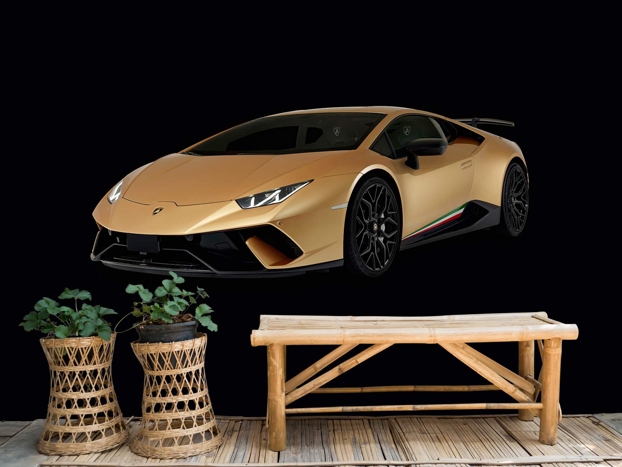 Wallpaper Lamborghini Huracán - Höger fram, svart 6