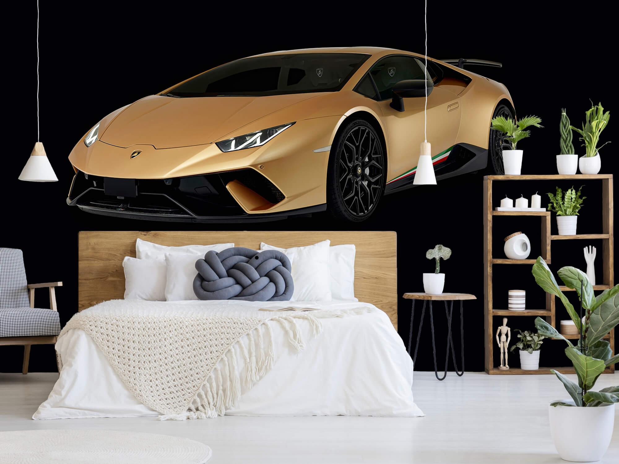 Wallpaper Lamborghini Huracán - Höger fram, svart 7