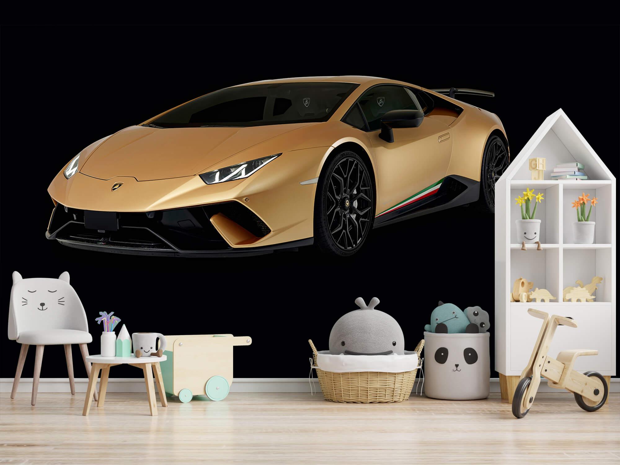 Wallpaper Lamborghini Huracán - Höger fram, svart 2