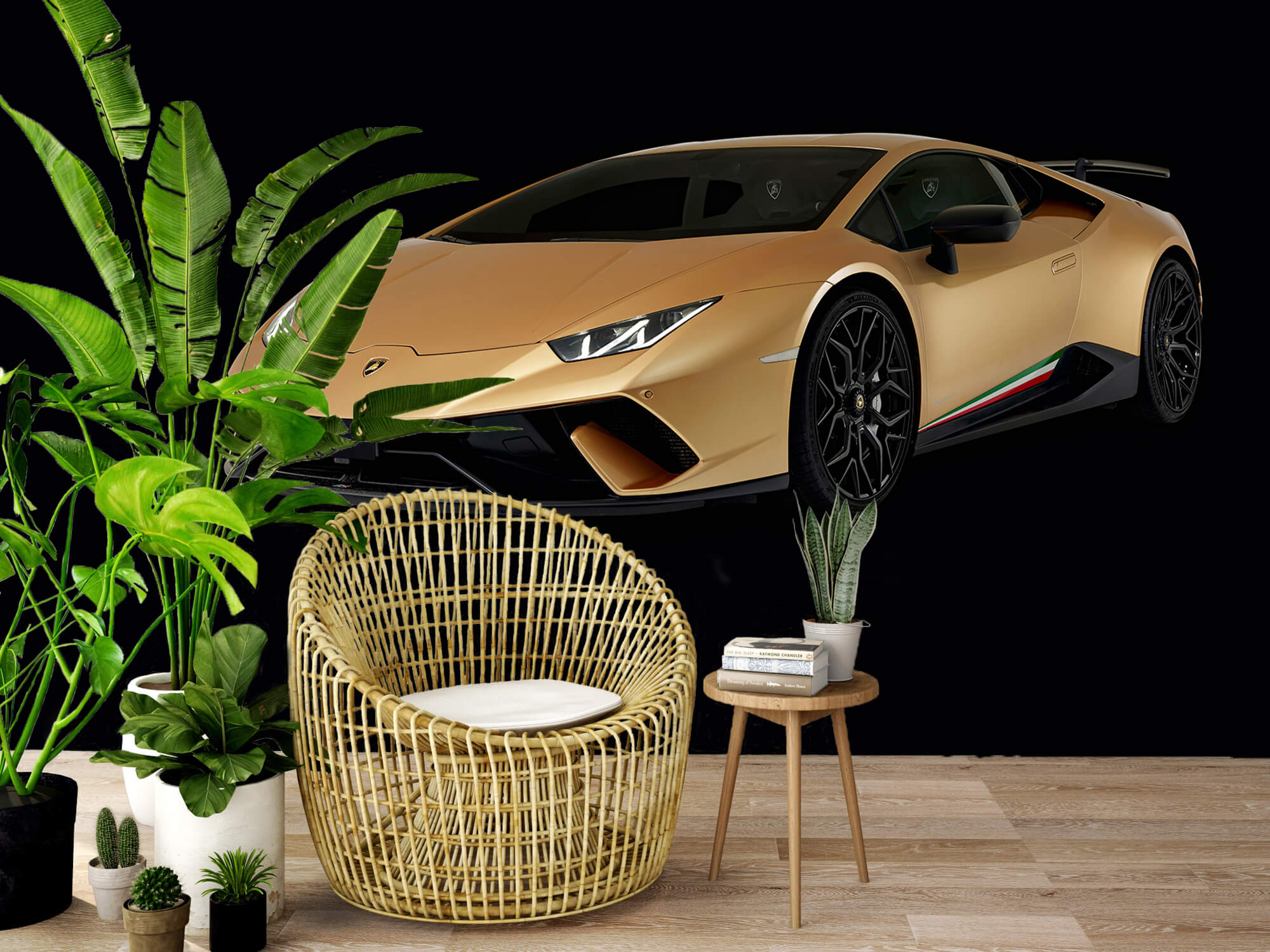 Wallpaper Lamborghini Huracán - Höger fram, svart 8
