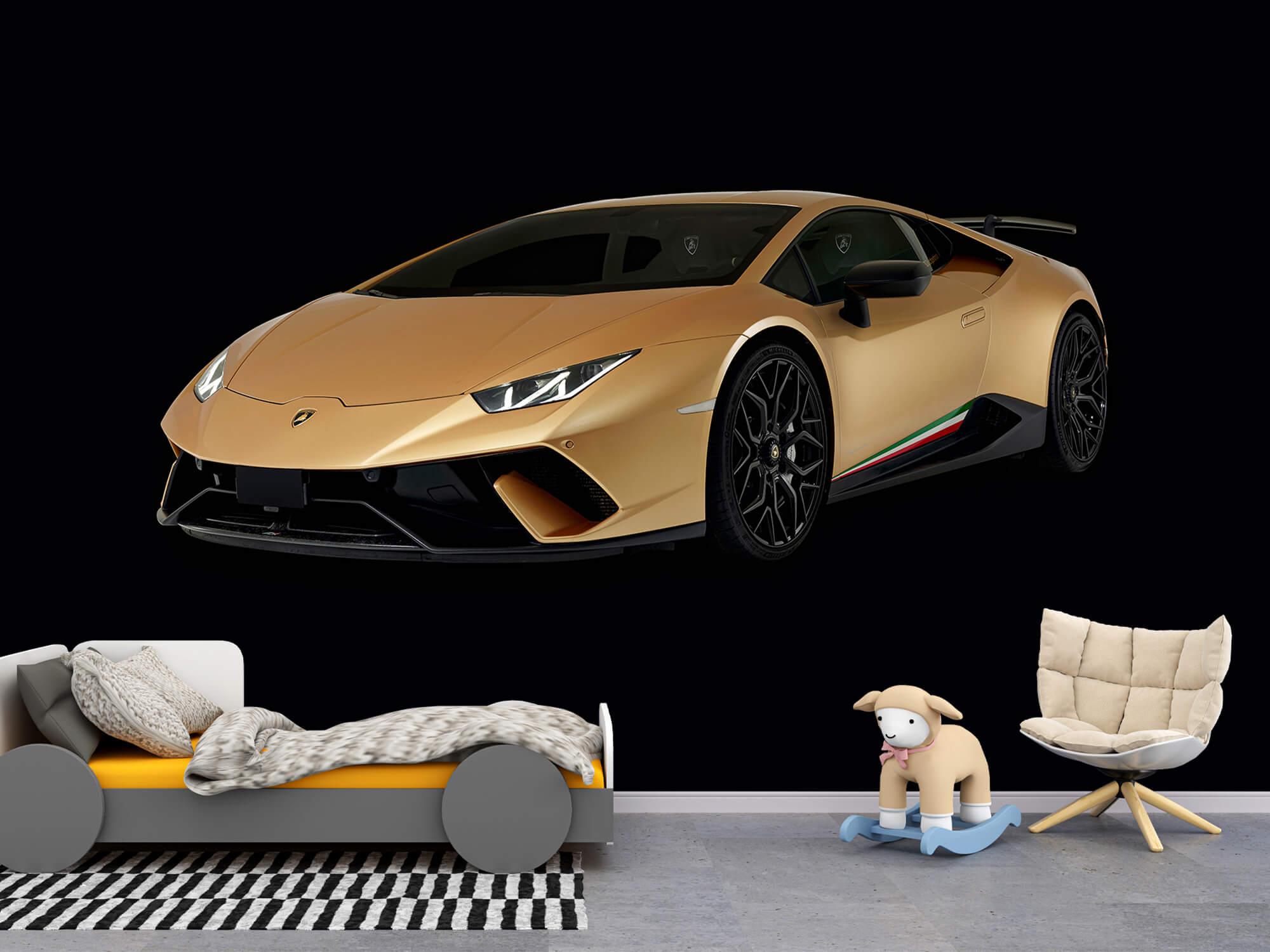 Wallpaper Lamborghini Huracán - Höger fram, svart 9
