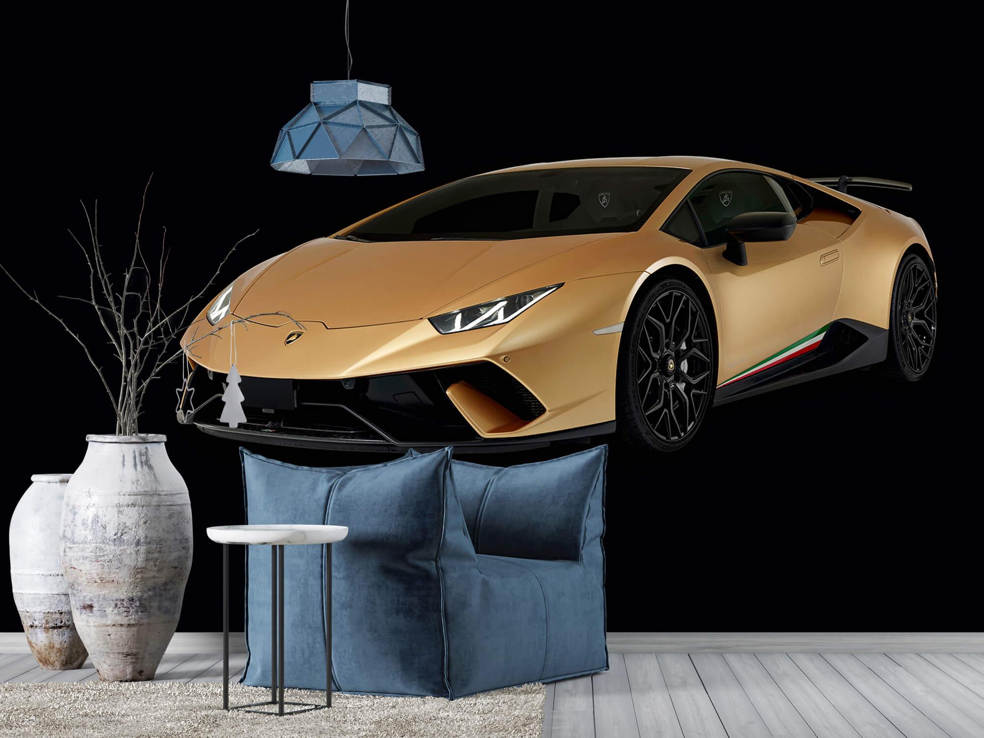 Wallpaper Lamborghini Huracán - Höger fram, svart 10