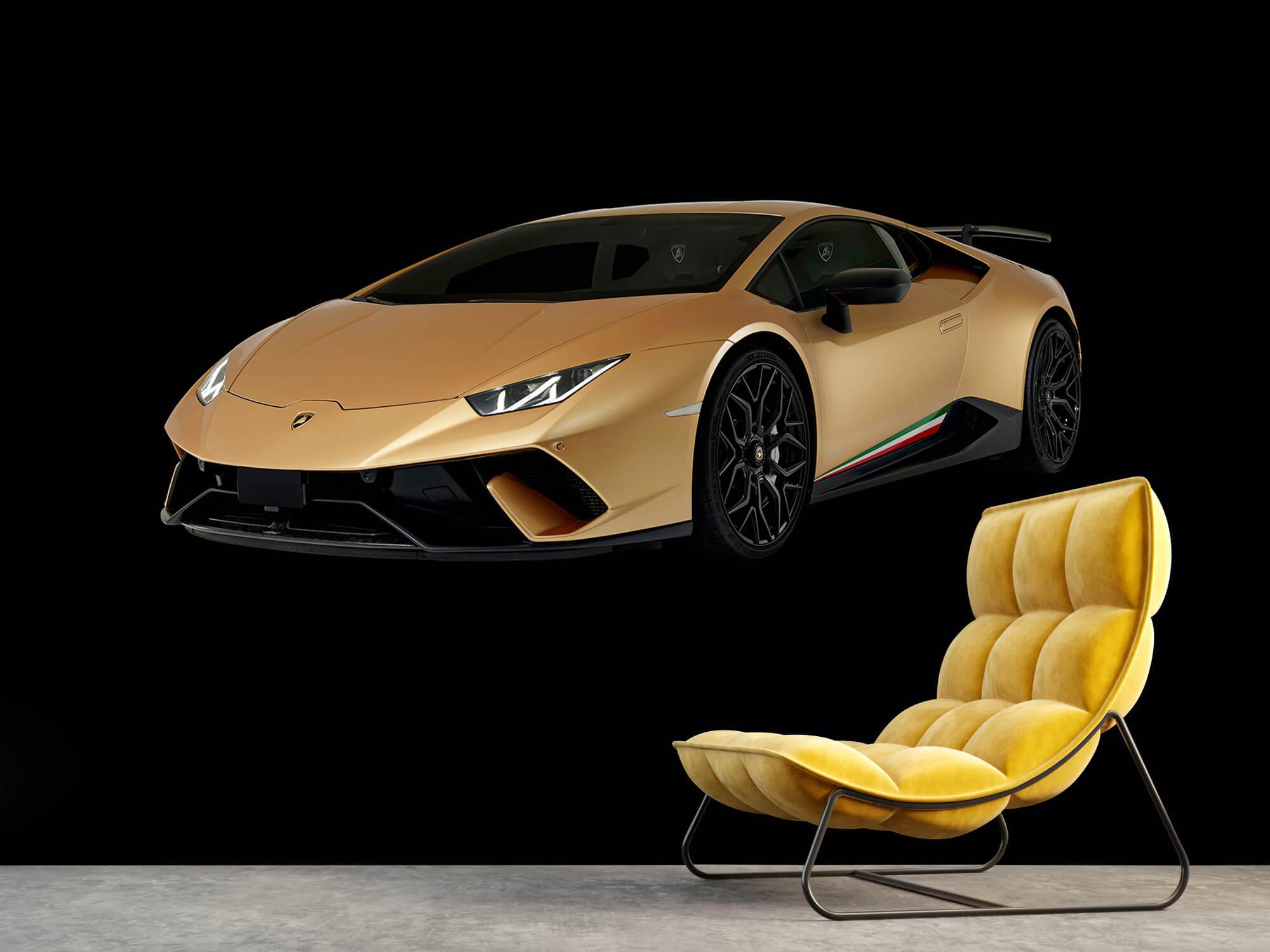 Wallpaper Lamborghini Huracán - Höger fram, svart 3