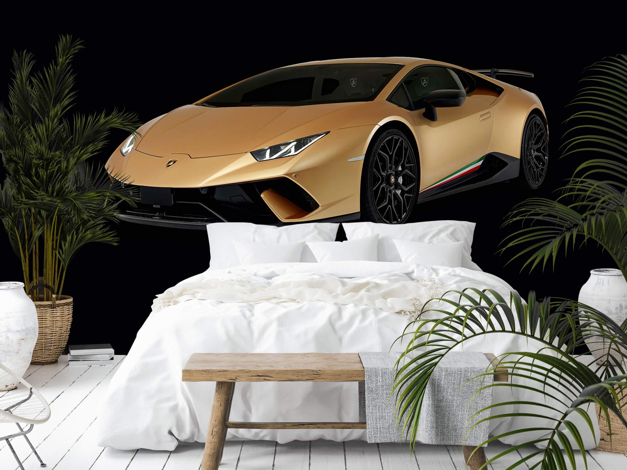 Wallpaper Lamborghini Huracán - Höger fram, svart 11