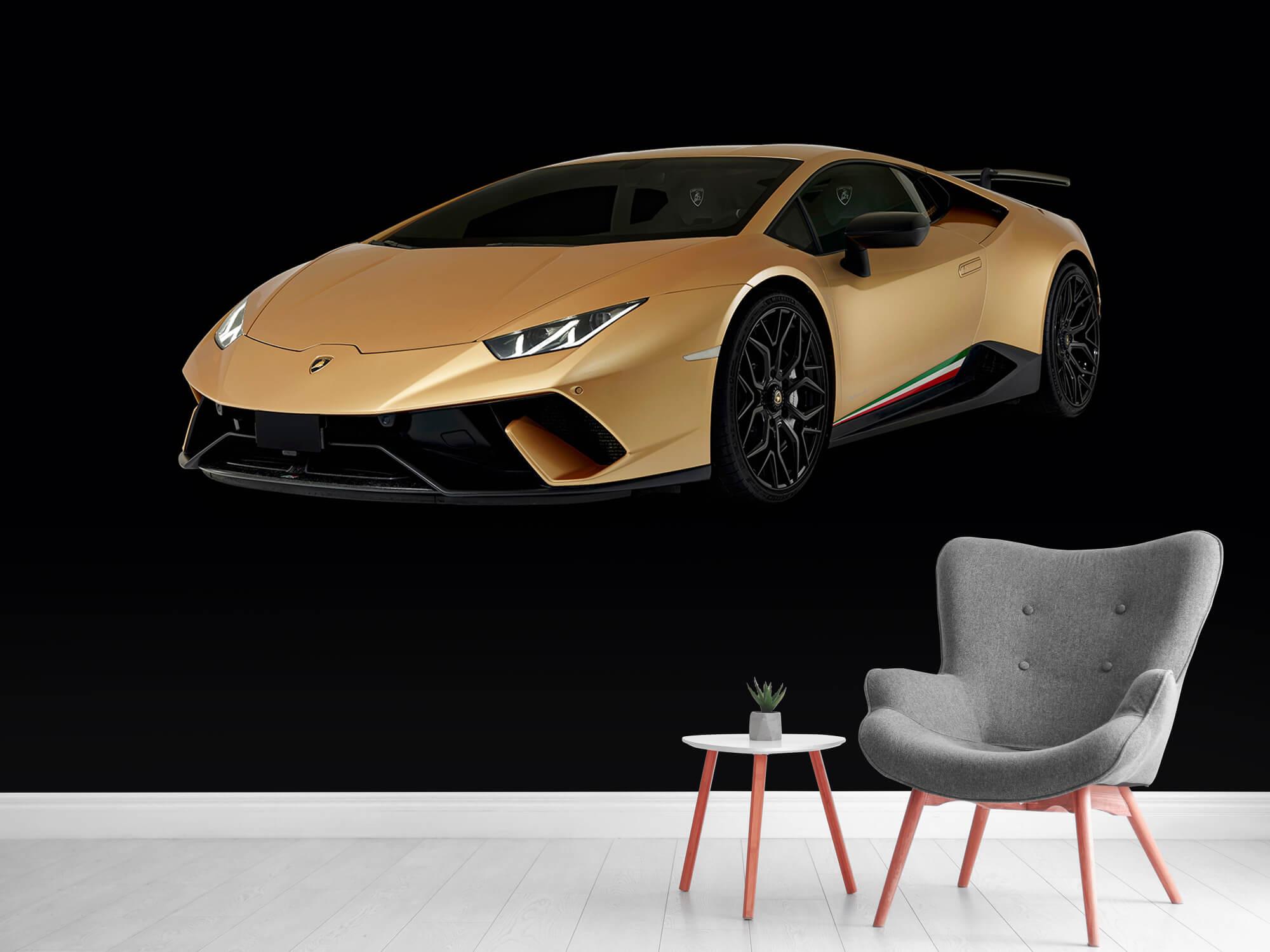 Wallpaper Lamborghini Huracán - Höger fram, svart 5