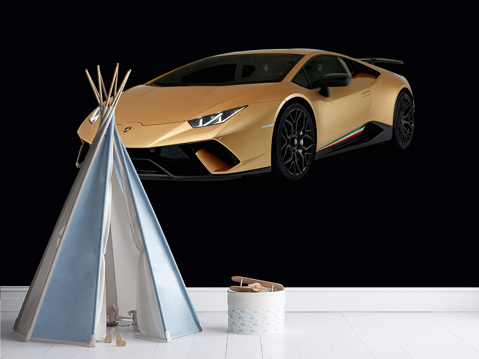 Wallpaper Lamborghini Huracán - Höger fram, svart 12
