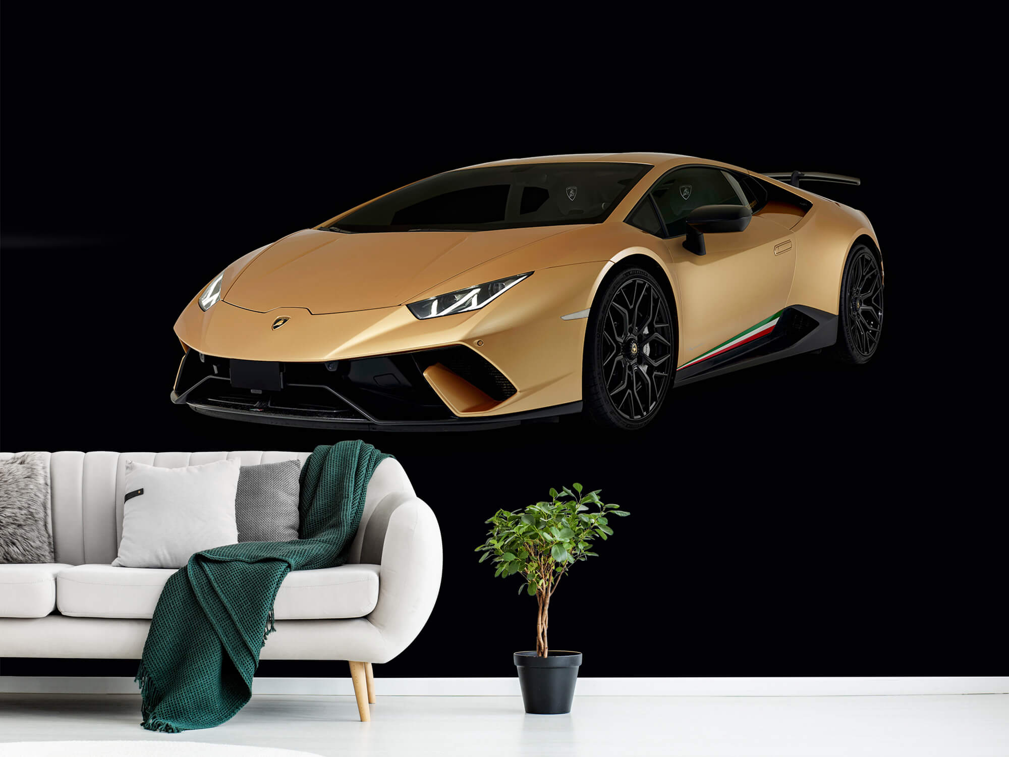 Wallpaper Lamborghini Huracán - Höger fram, svart 1