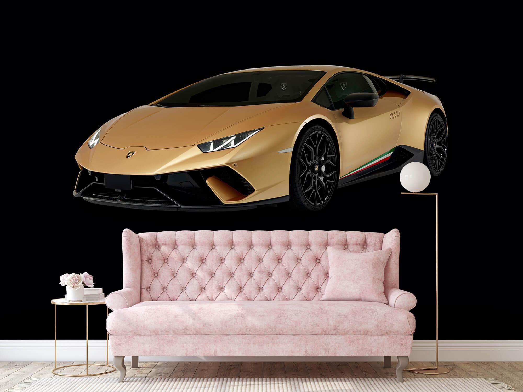 Wallpaper Lamborghini Huracán - Höger fram, svart 13