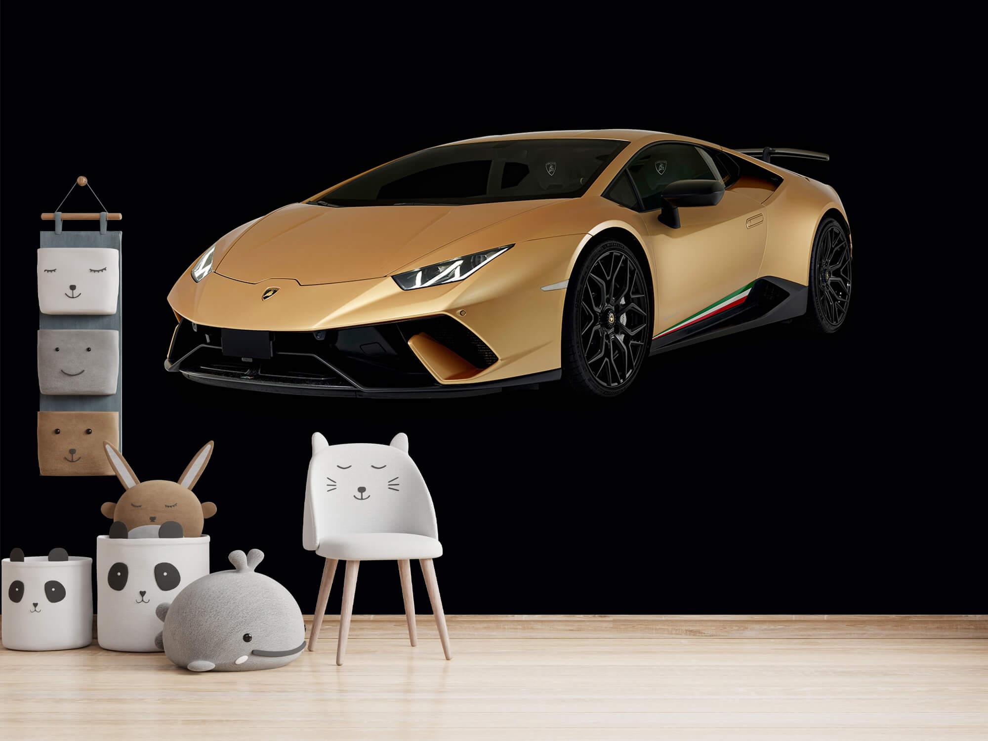 Wallpaper Lamborghini Huracán - Höger fram, svart 14