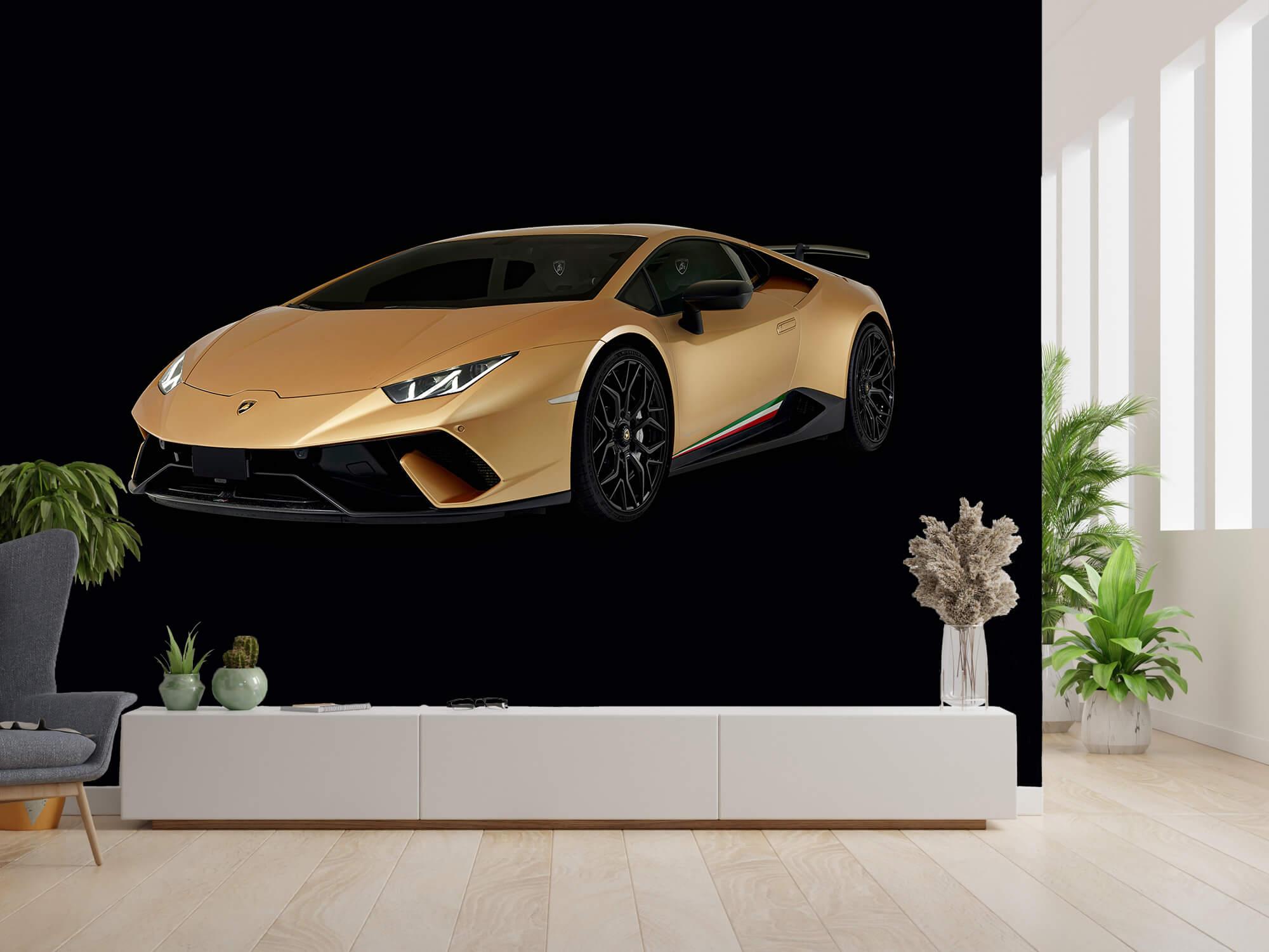 Wallpaper Lamborghini Huracán - Höger fram, svart 4