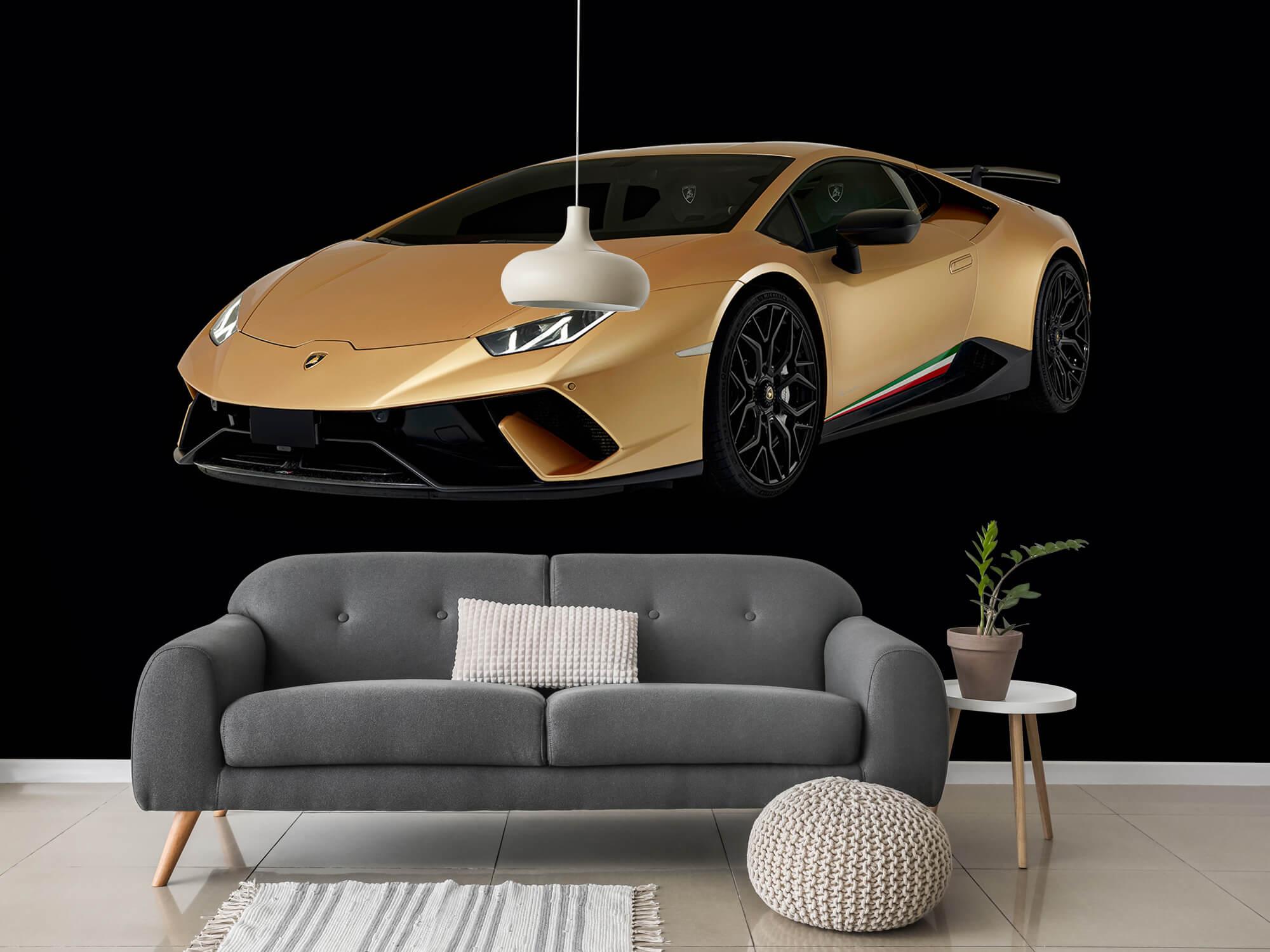 Wallpaper Lamborghini Huracán - Höger fram, svart 15