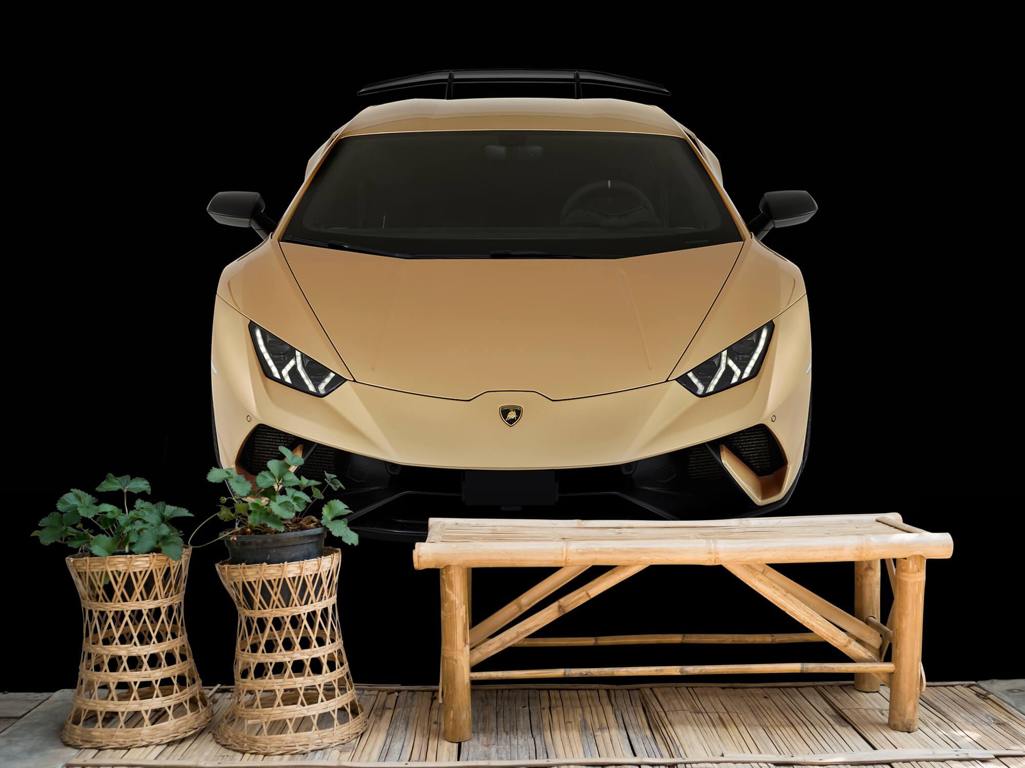 Wallpaper Lamborghini Huracán - Framifrån uppifrån, svart 2
