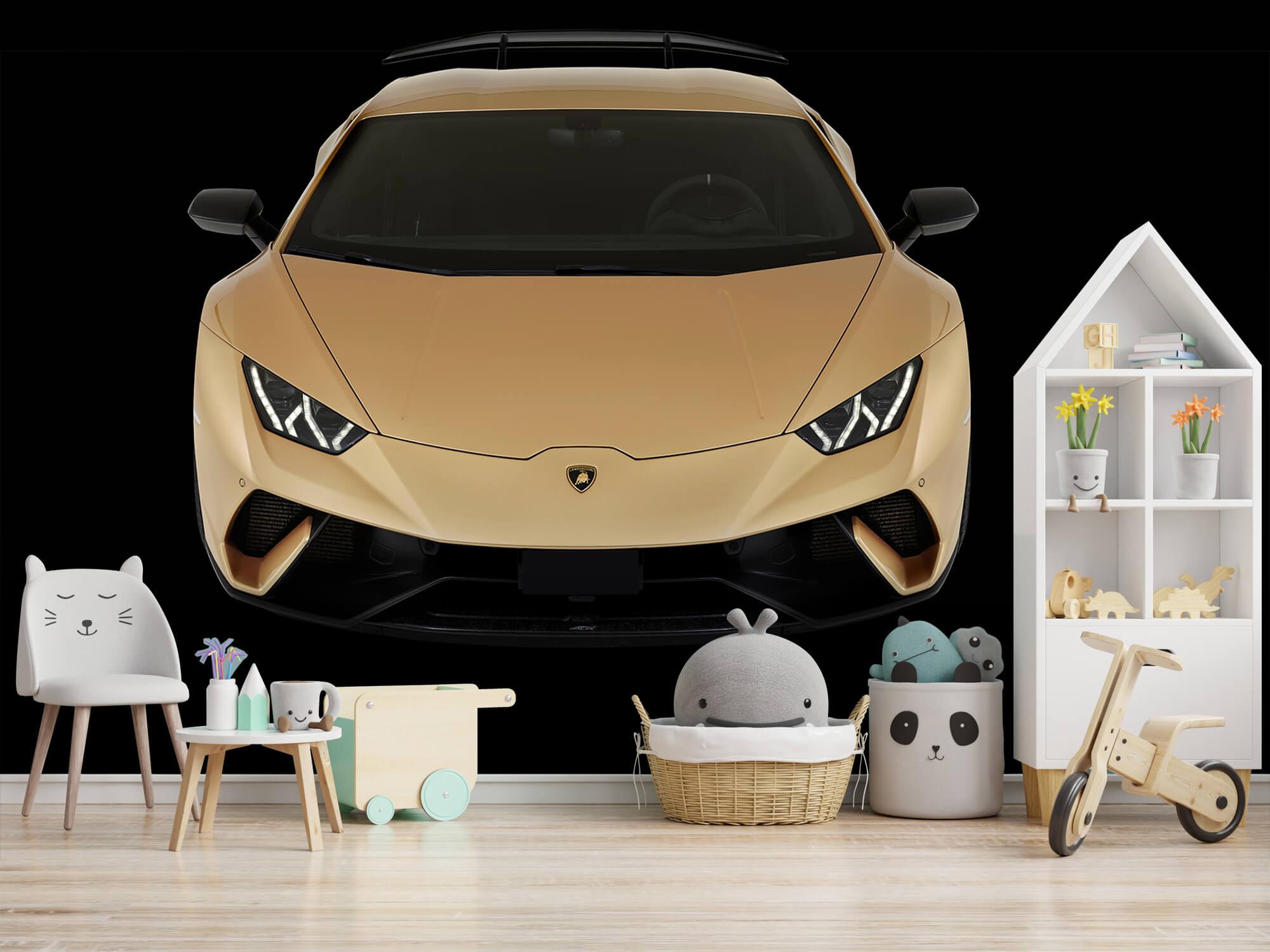 Wallpaper Lamborghini Huracán - Framifrån uppifrån, svart 4