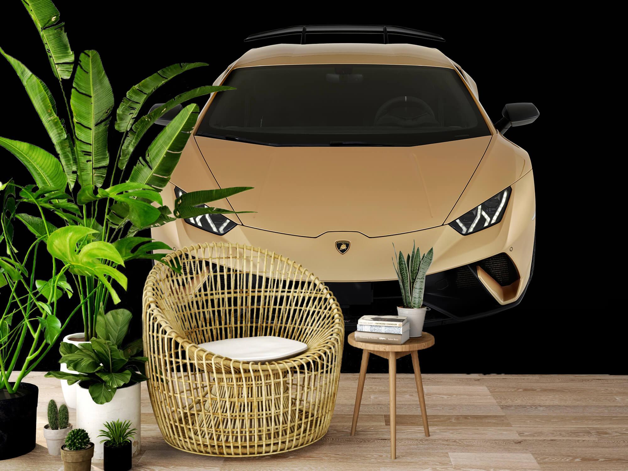 Wallpaper Lamborghini Huracán - Framifrån uppifrån, svart 5