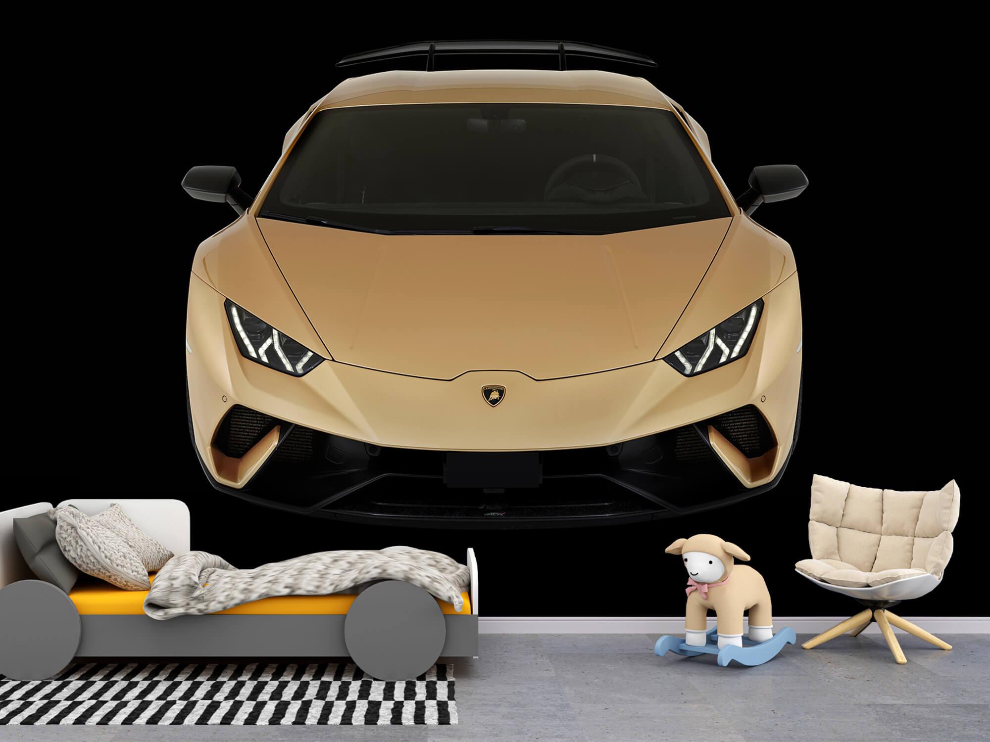 Wallpaper Lamborghini Huracán - Framifrån uppifrån, svart 6