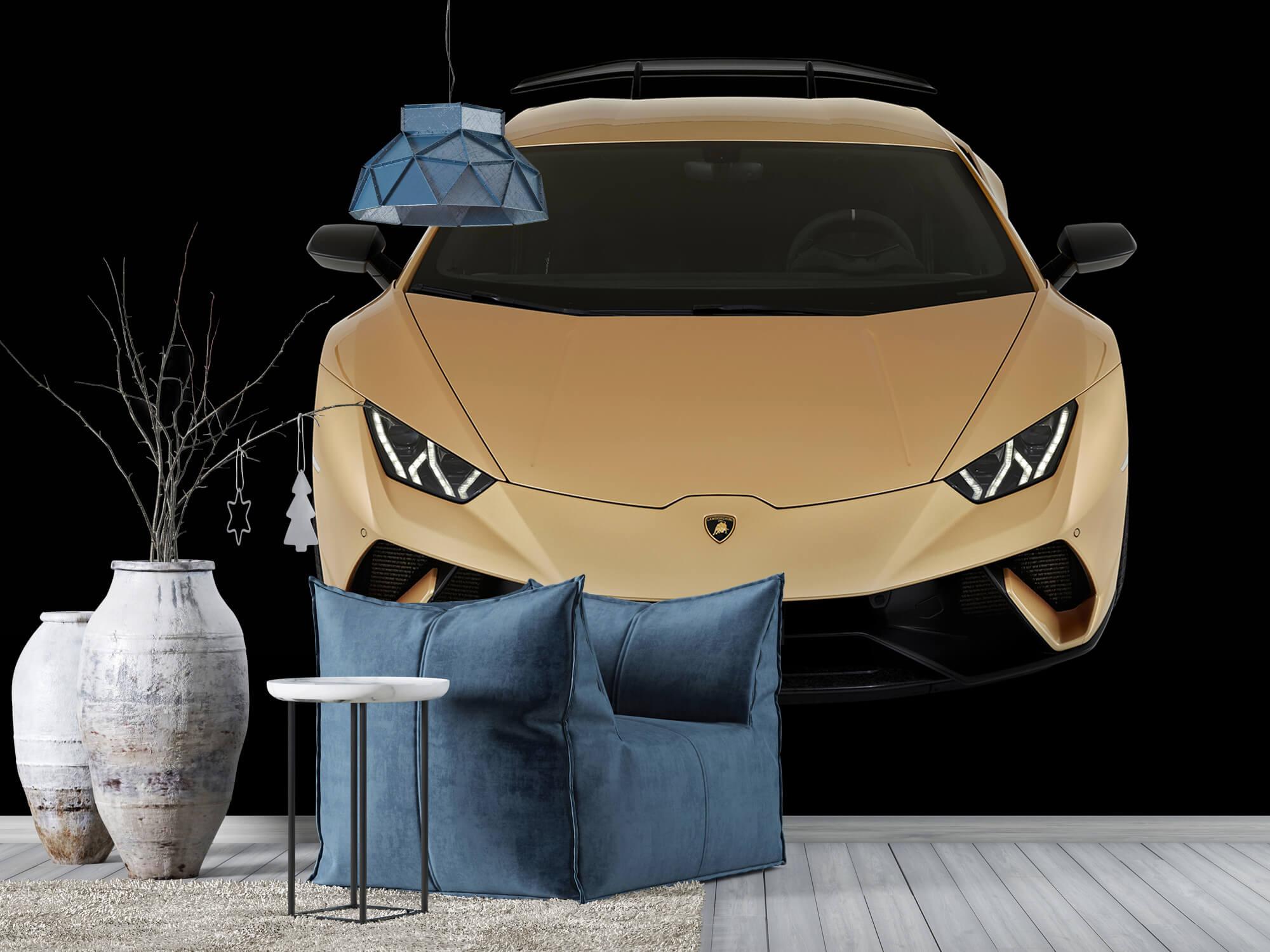 Wallpaper Lamborghini Huracán - Framifrån uppifrån, svart 7