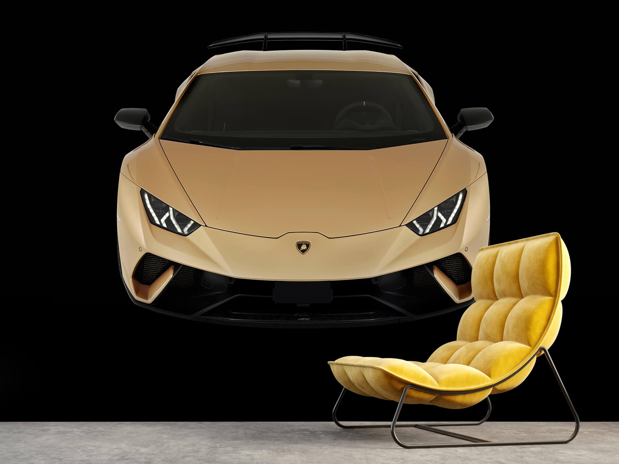 Wallpaper Lamborghini Huracán - Framifrån uppifrån, svart 8