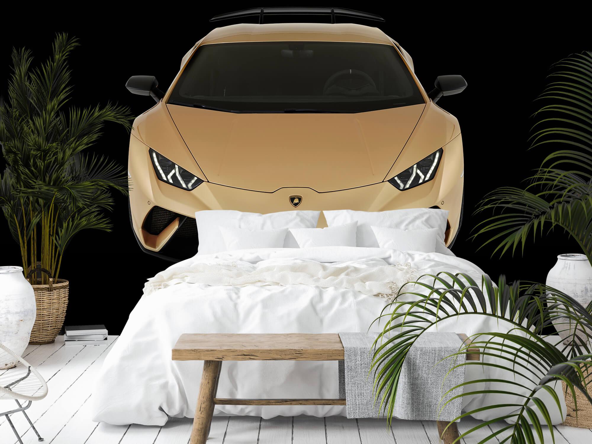 Wallpaper Lamborghini Huracán - Framifrån uppifrån, svart 9