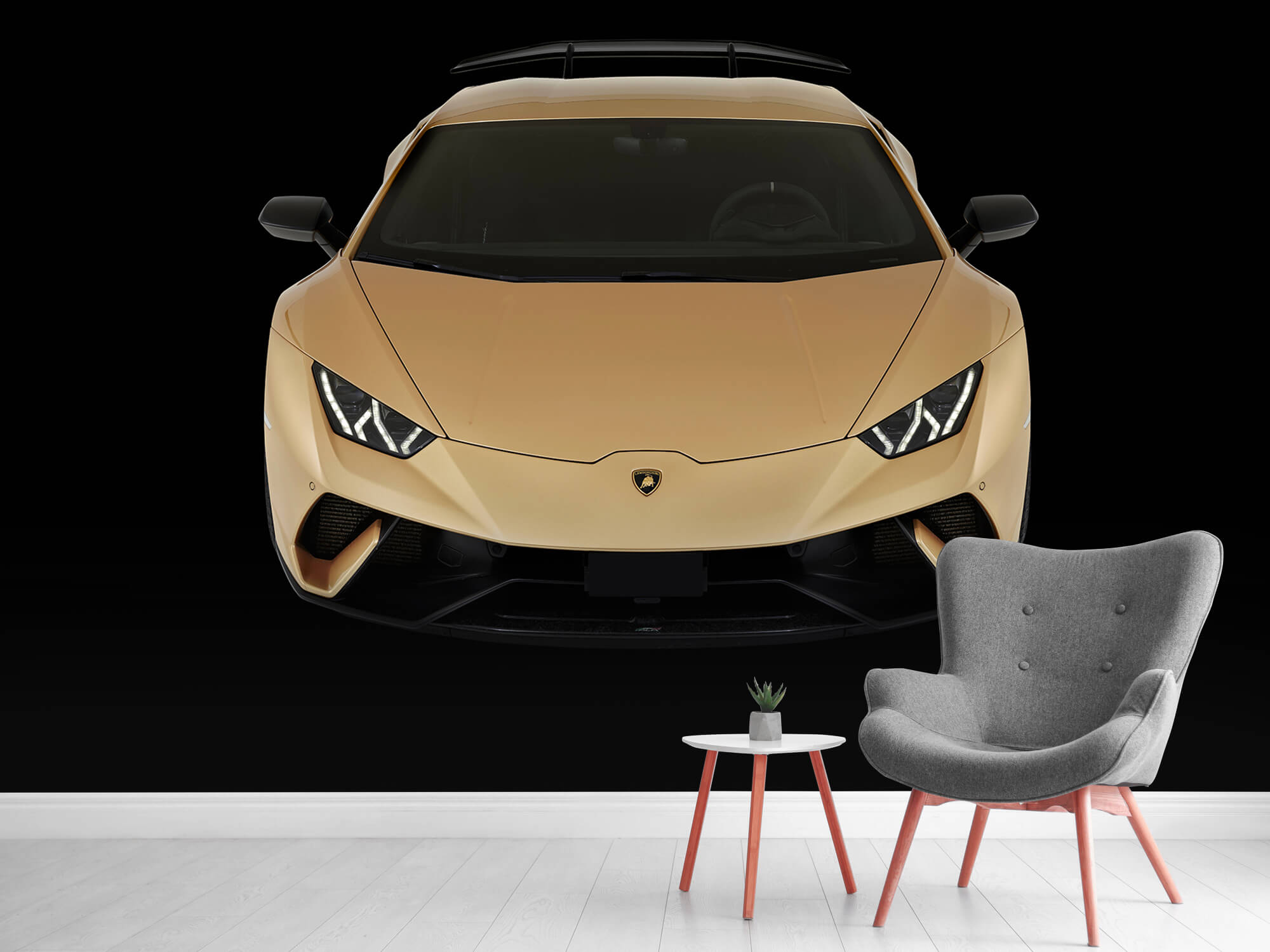 Wallpaper Lamborghini Huracán - Framifrån uppifrån, svart 10