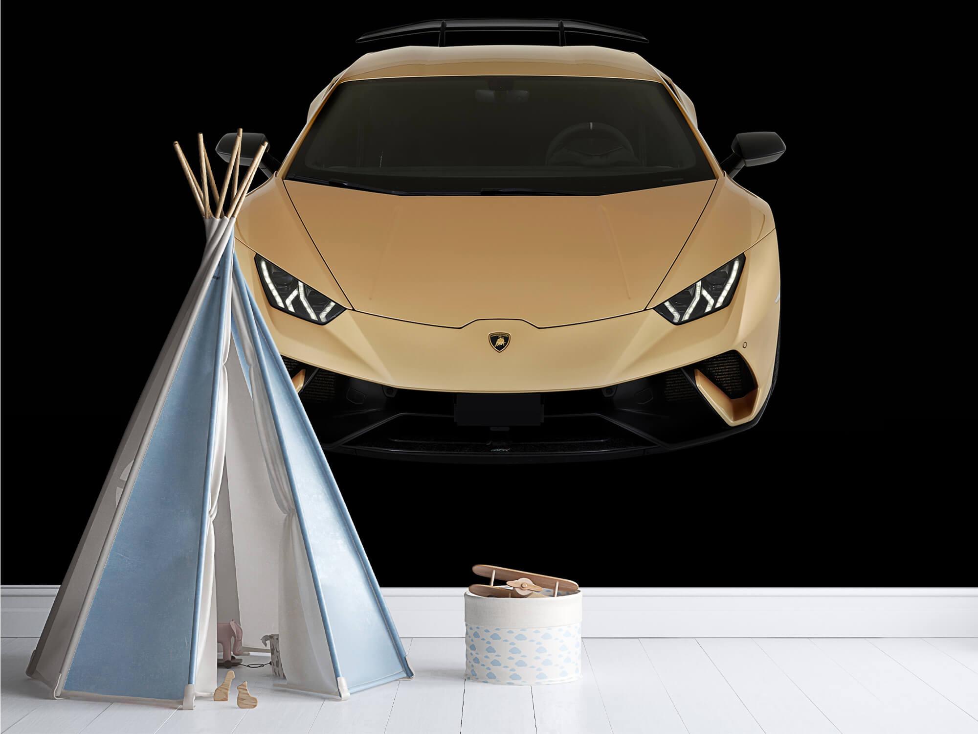 Wallpaper Lamborghini Huracán - Framifrån uppifrån, svart 1
