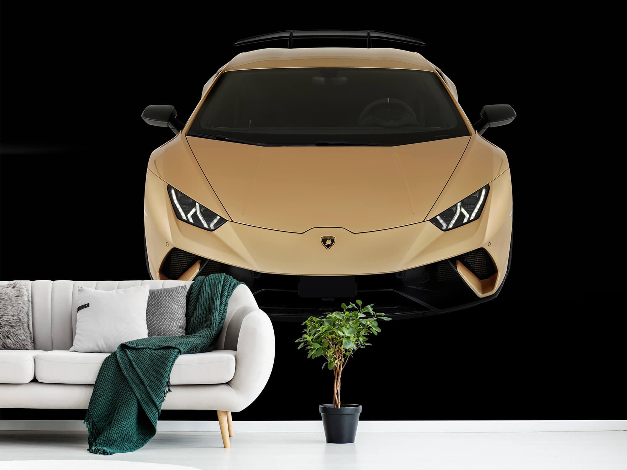 Wallpaper Lamborghini Huracán - Framifrån uppifrån, svart 11
