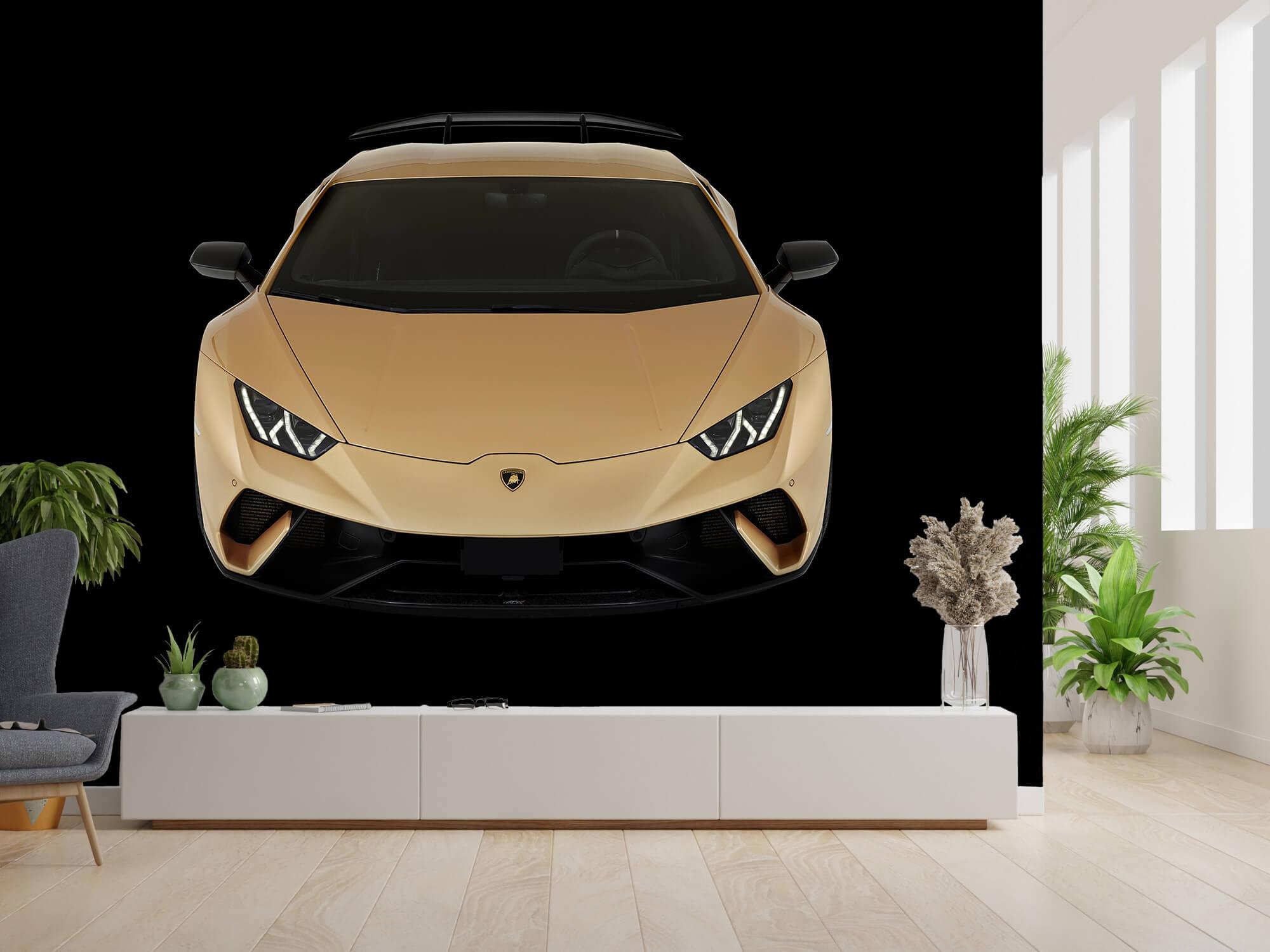 Wallpaper Lamborghini Huracán - Framifrån uppifrån, svart 14