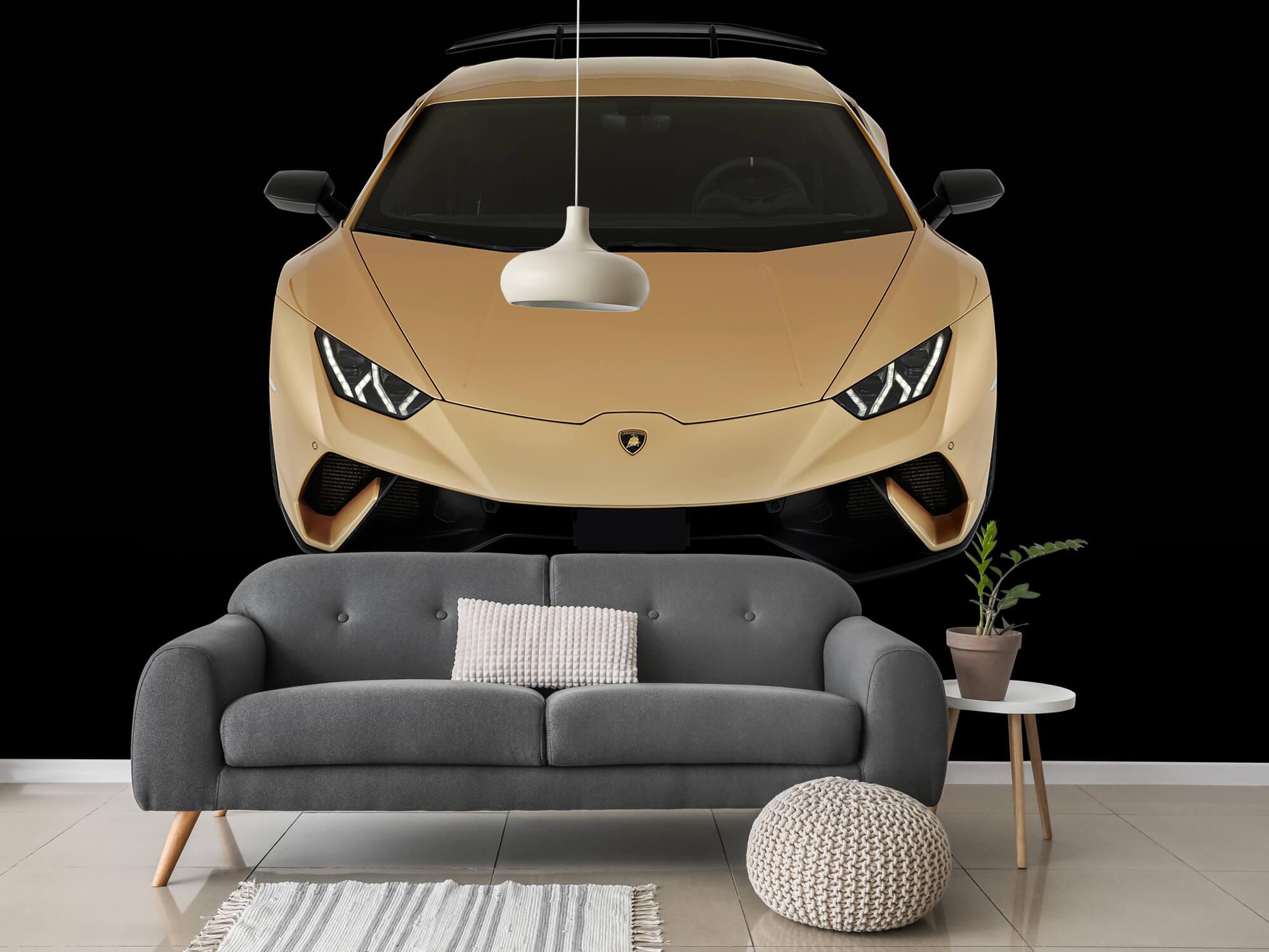 Wallpaper Lamborghini Huracán - Framifrån uppifrån, svart 3