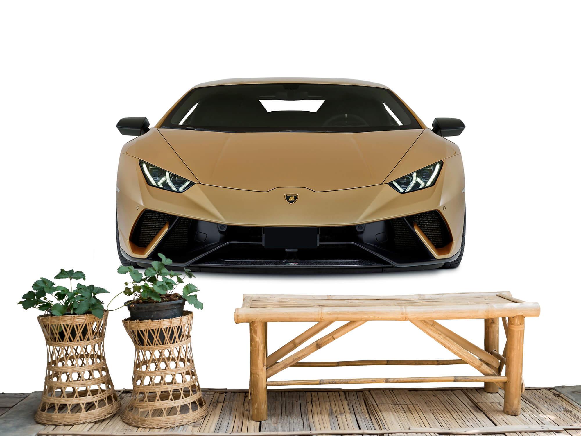Wallpaper Lamborghini Huracán - Framsida, vit 1